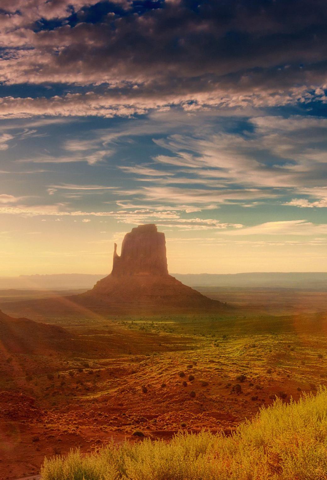Monument Valley Utah 3Wallpapers iPhone Parallax Monument Valley Utah