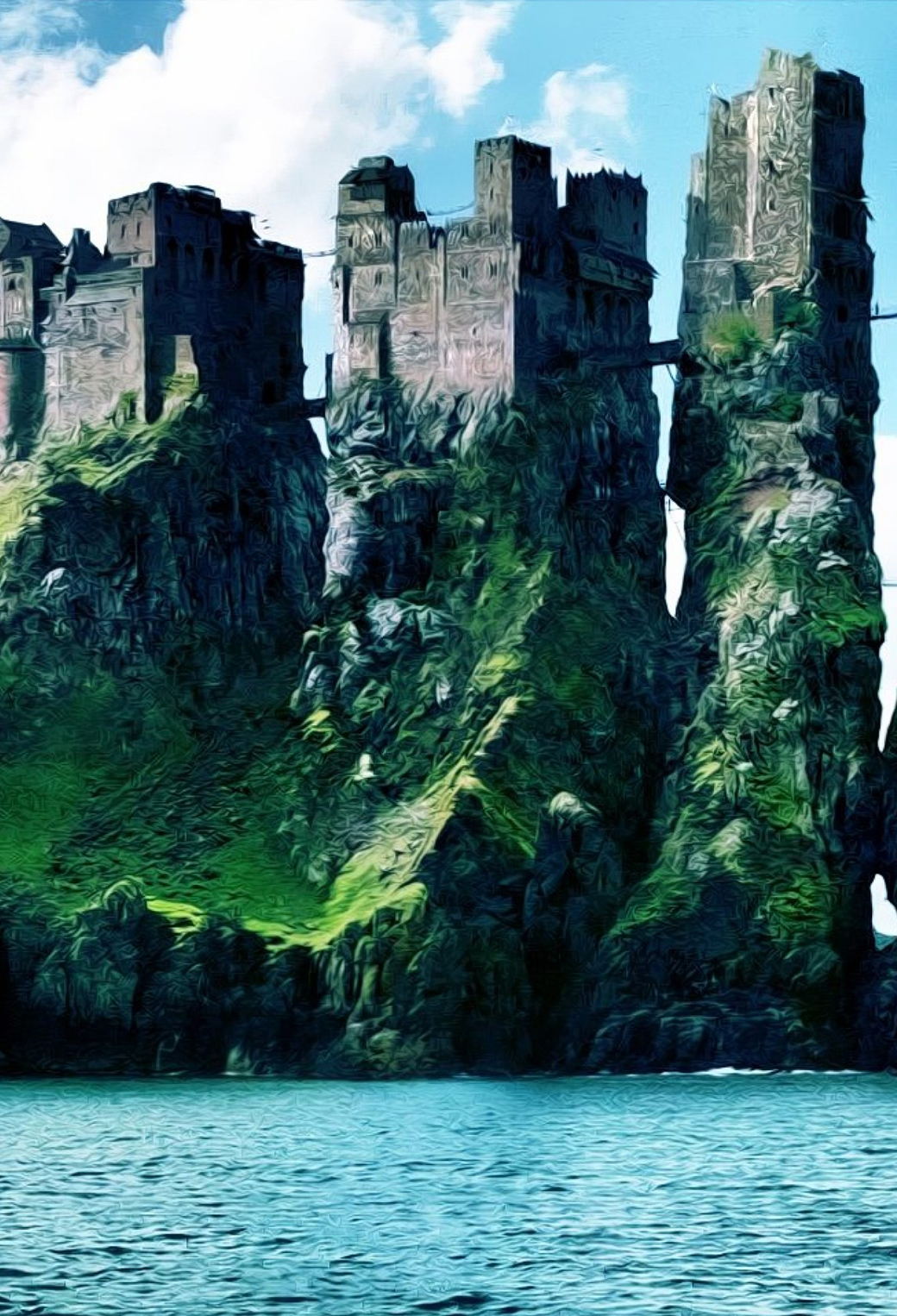 Game of Thrones Casttle 3Wallpapers iPhone Parallax Game of Thrones Castle
