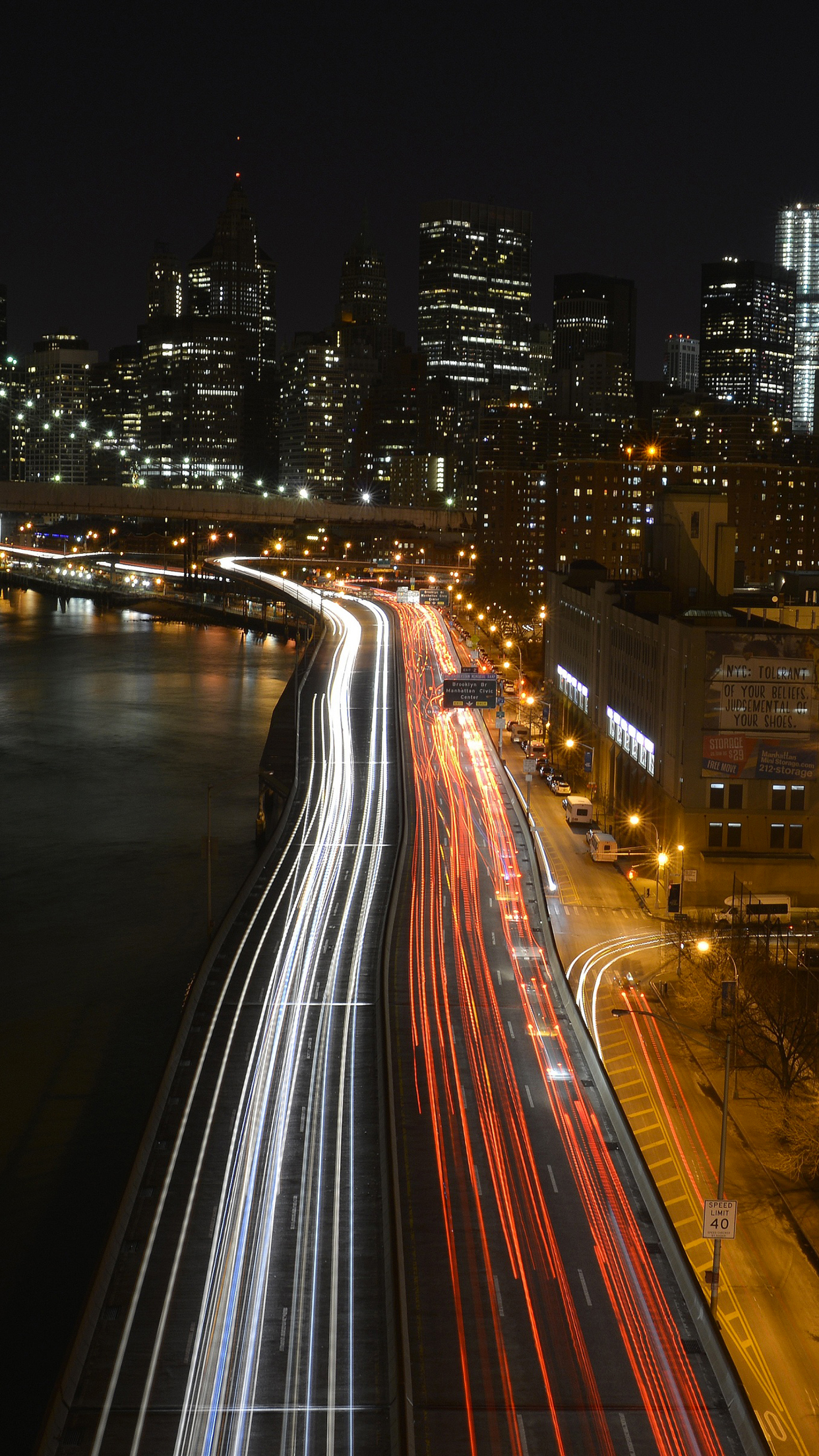 Timelapse manhattan iPhone Parallax 3Wallpapers Time lapse Manhattan