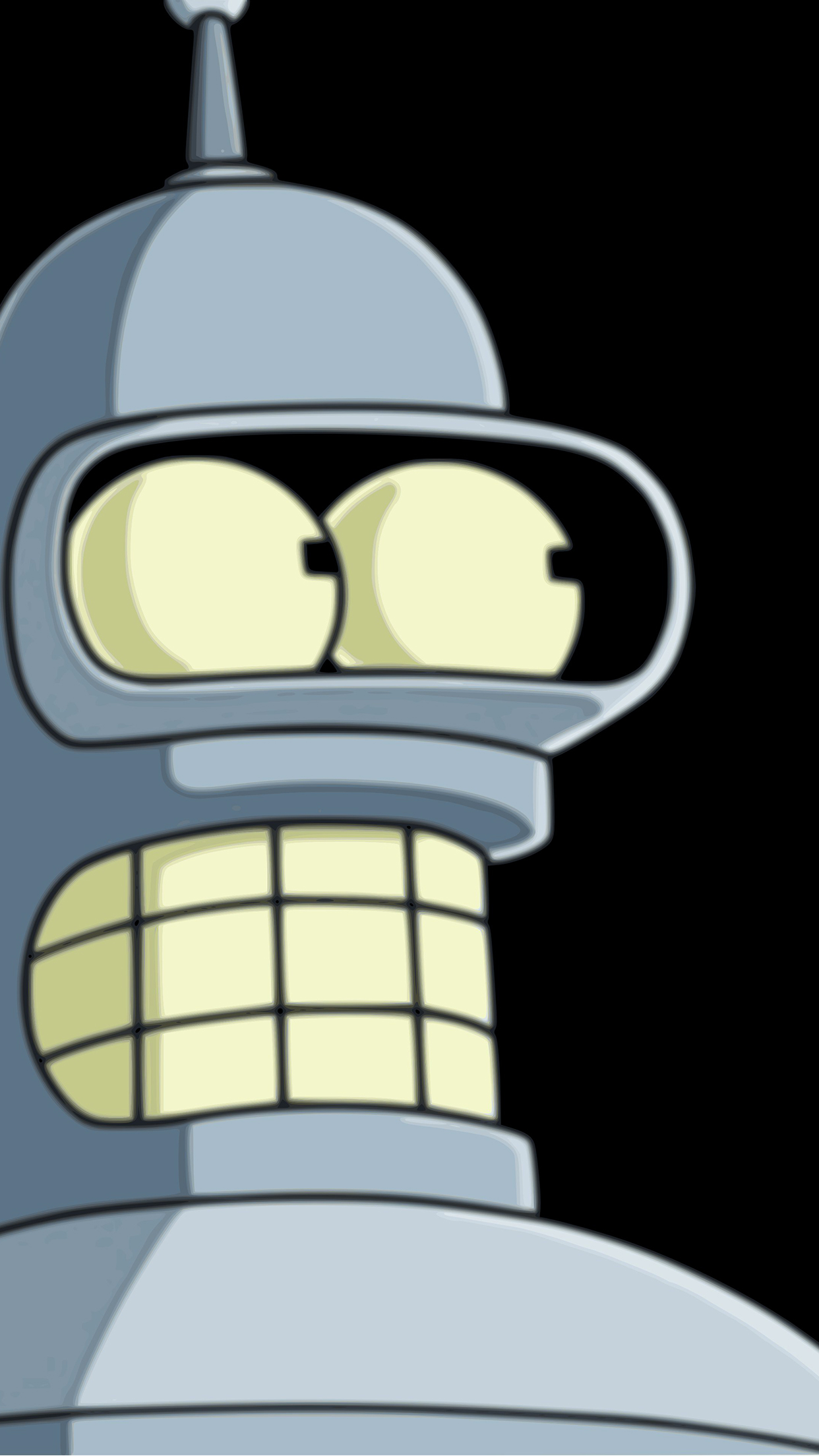 Bender Face iPhone 3Wallpapers Parallax Bender Face