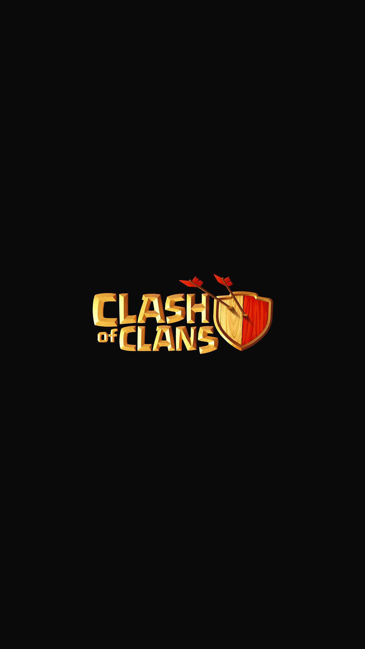 Clash Of Clans Logo 3Wallpapers iPhone Parallax Clash Of Clans Logo