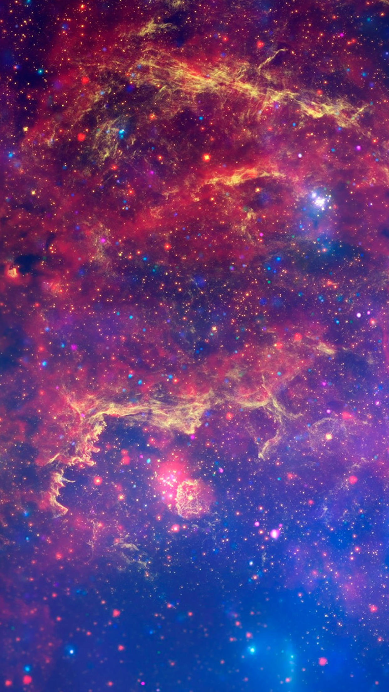 Galaxy space clouds 3Wallpapers iPhone Parallax Galaxy space clouds