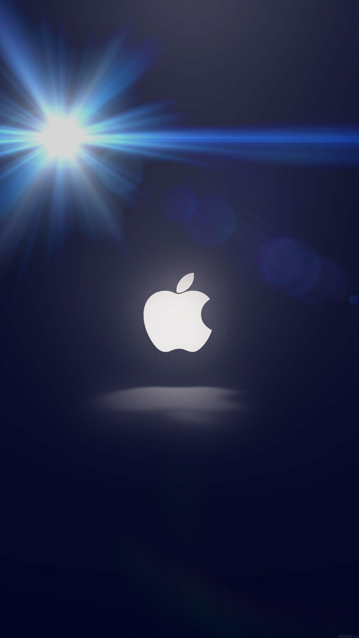 apple logo 3Wallpapers iPhone Parallax Apple Logo Sun