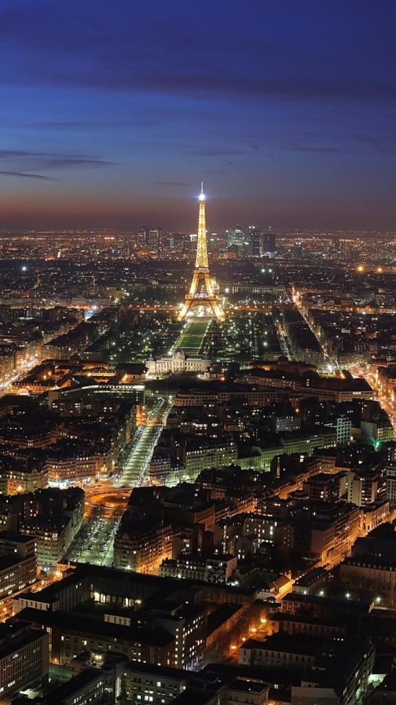 Beautiful landscape Paris in the night 3Wallpapers iPhone Parallax 576x1024 Beautiful landscape Paris in the night 3Wallpapers iPhone Parallax