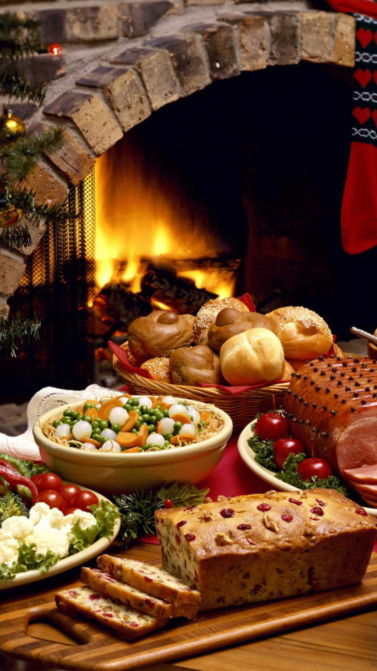 food fireplace 3Wallpapers iPhone Parallax Food Fireplace