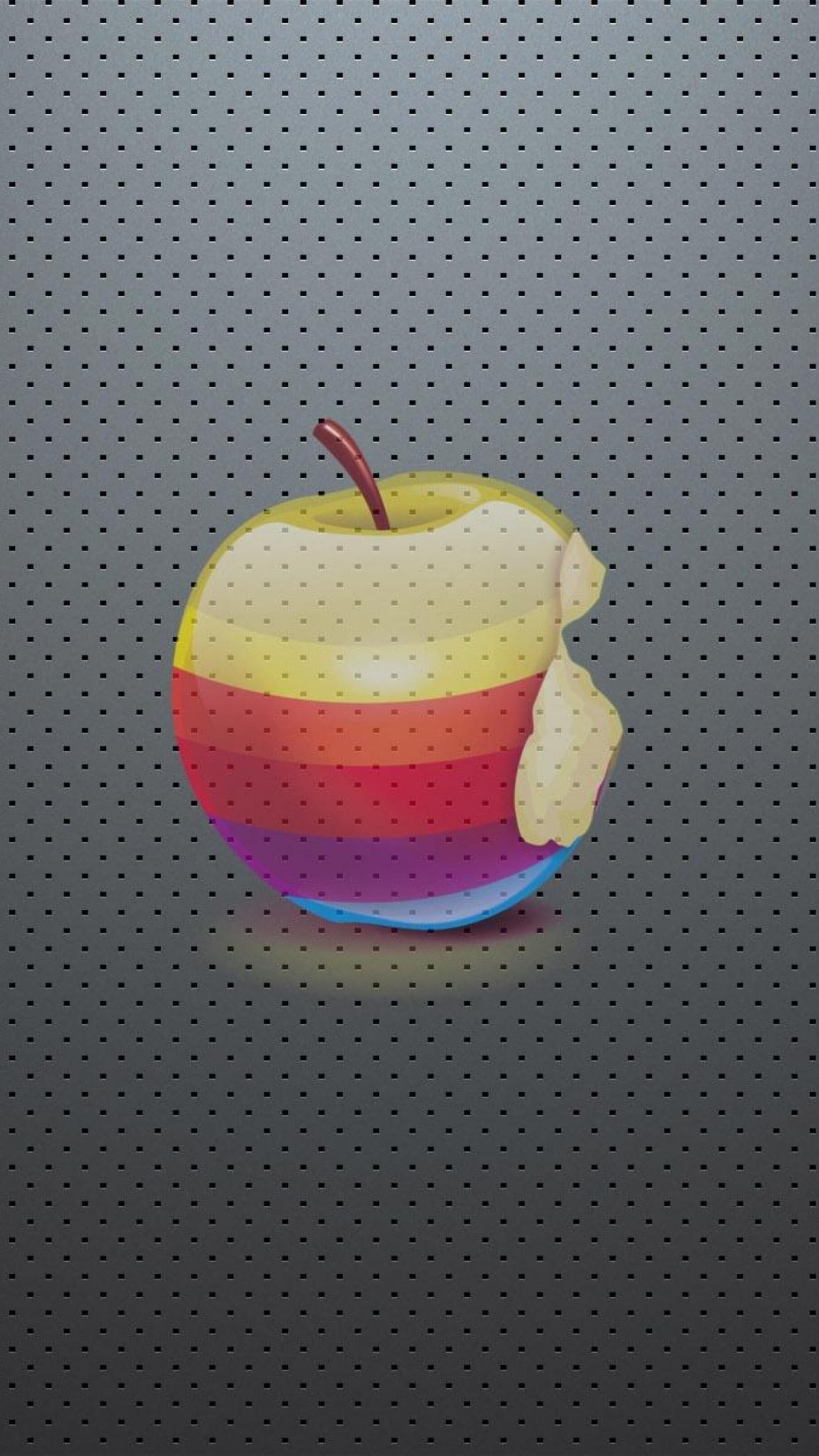 apple logo real 3Wallpapers iPhone Parallax Apple Logo Real