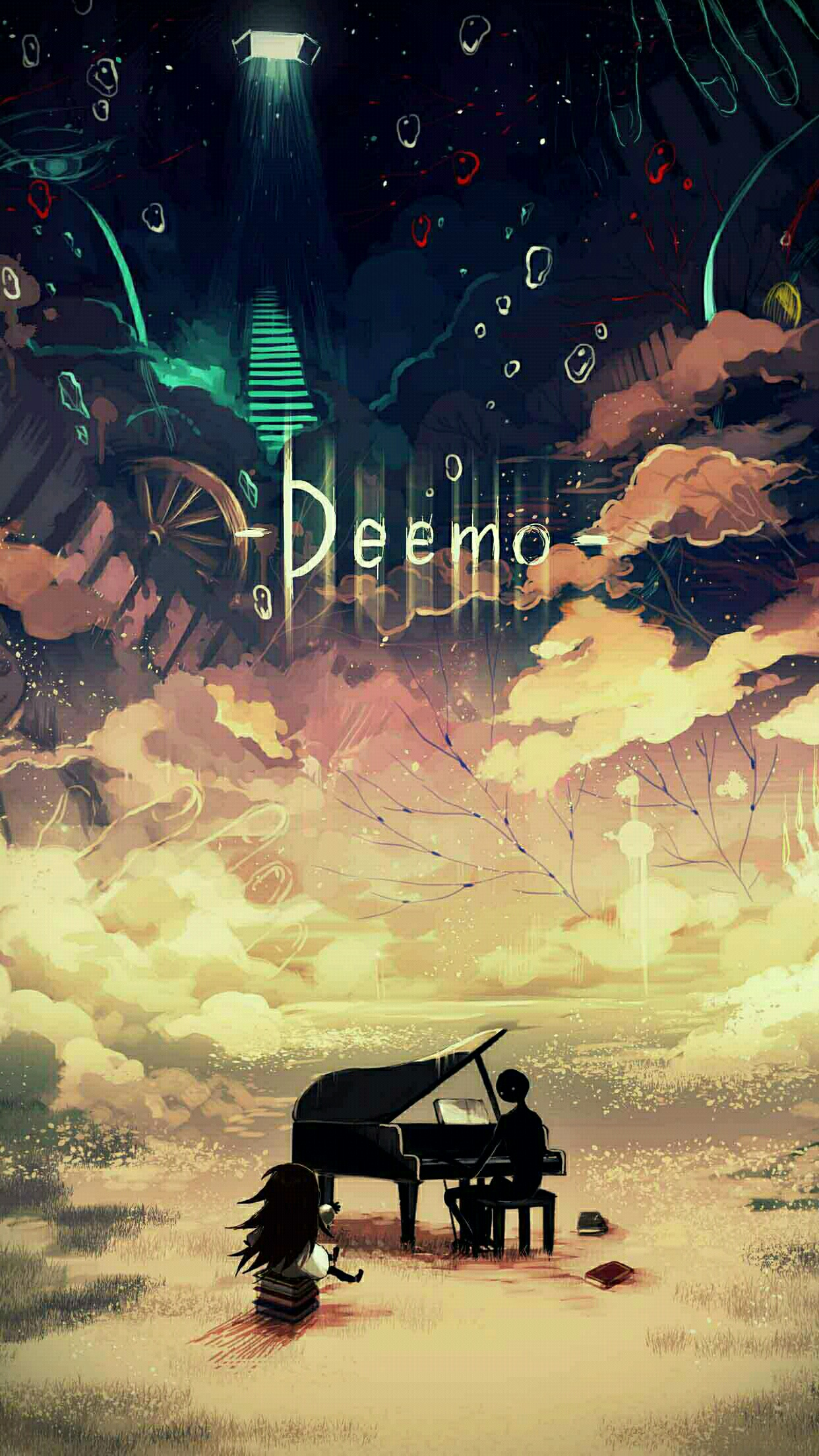 deemo intro 3Wallpapers iPhone Parallax Deemo Intro