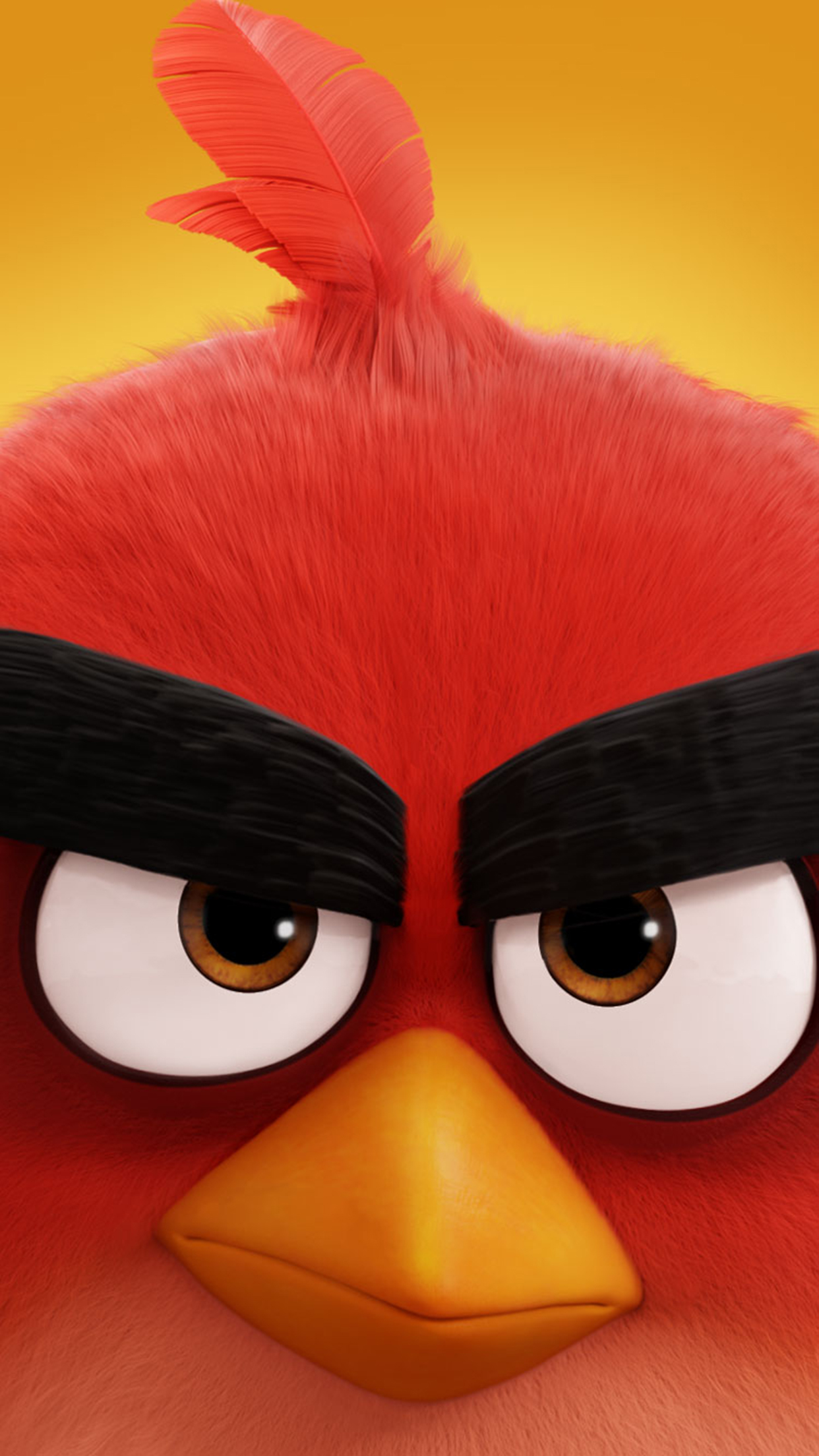Angry Bird Red 3Wallpapers iPhone Parallax Angry Bird Red