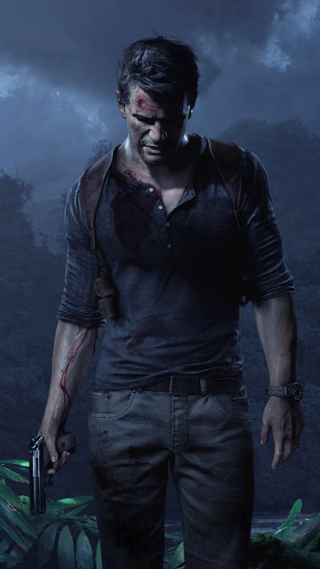 Uncharted Drake 3Wallpapers iPhone Parallax Drake