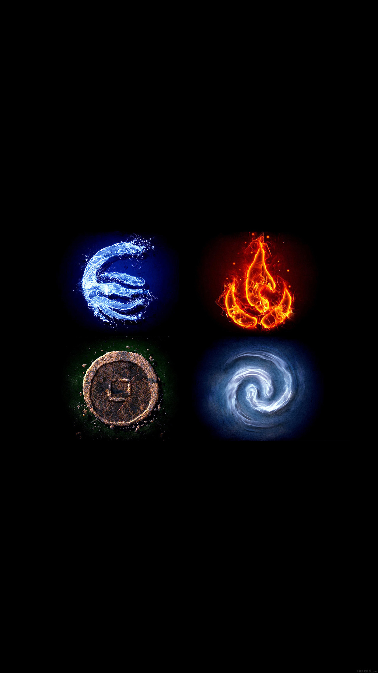 Avatar the last airbender the four elements 3Wallpapers iPhone Parallax Avatar the last airbender the four elements