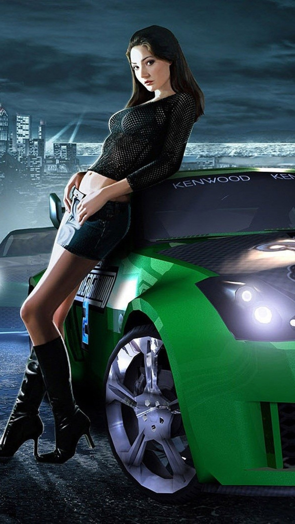 Need for speed Girl 3Wallpapers iPhone Parallax Need for speed girl