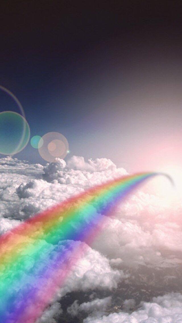 Rainbow Rainbow 3 3Wallpapers iPhone Parallax Rainbow 3