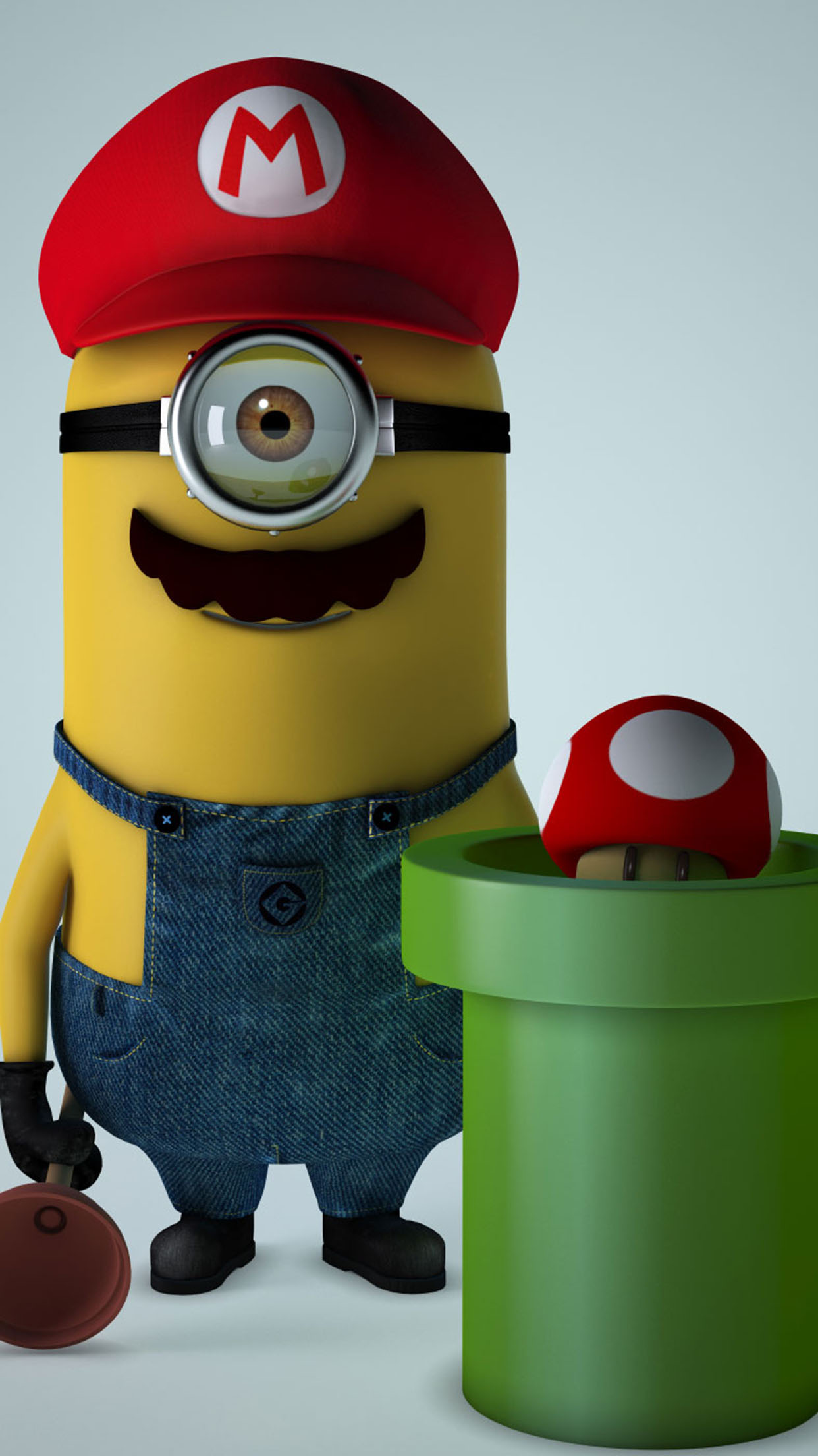 Despicable Me Mario 3Wallpapers iPhone Parallax Despicable Me art: Mario