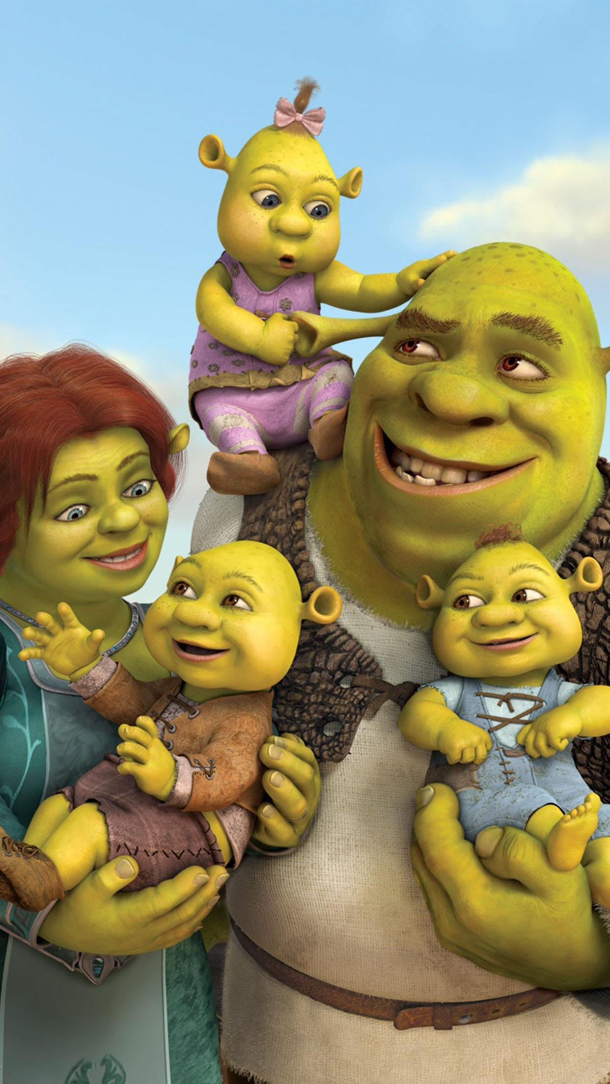 Shrek Shrek and Fiona s babies 3Wallpapers iPhone Parallax Shrek and Fionas babies