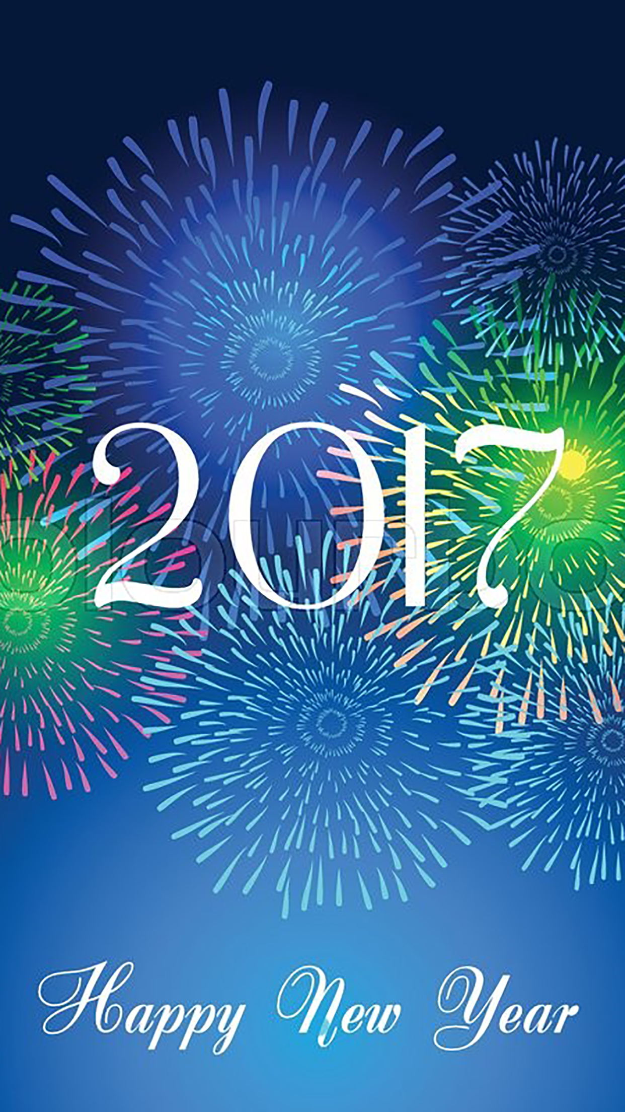 Happy New Year 2017 3Wallpapers iPhone Parallax Happy New Year : 2017
