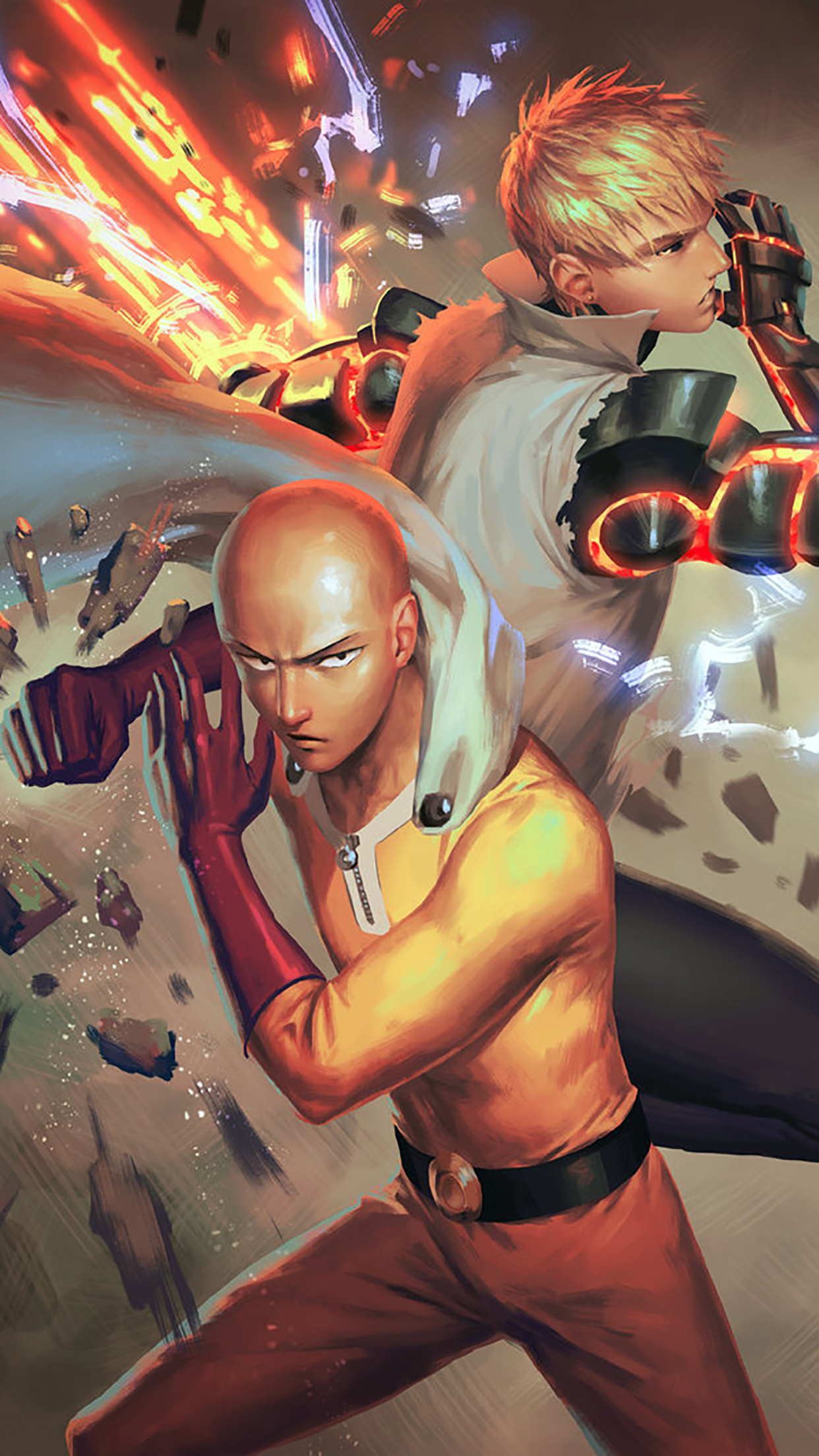 One Punch Man Fight 3Wallpapers iPhone Parallax One Punch Man : Fight