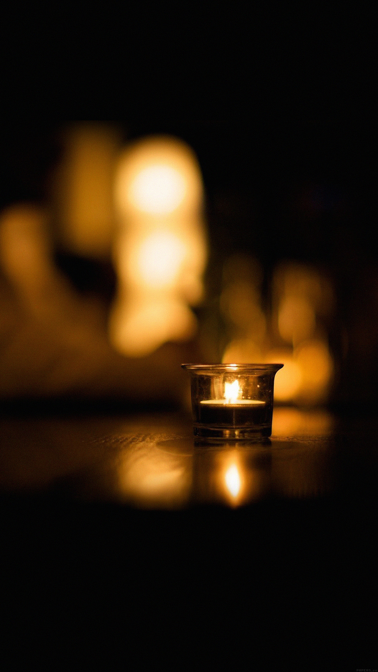 Candle Light Night Romantic 3Wallpapers iPhone Parallax Candle: Light night romantic