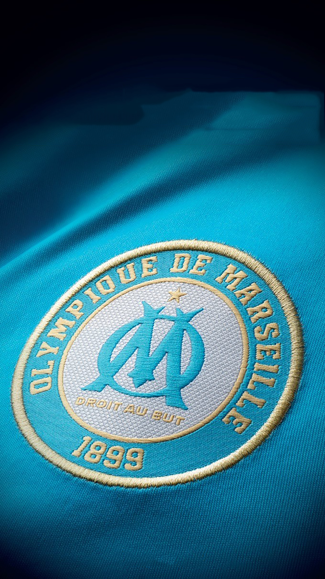 Olympique de Marseille Logo 2 3Wallpapers iPhone Parallax Olympique de Marseille : Logo 2