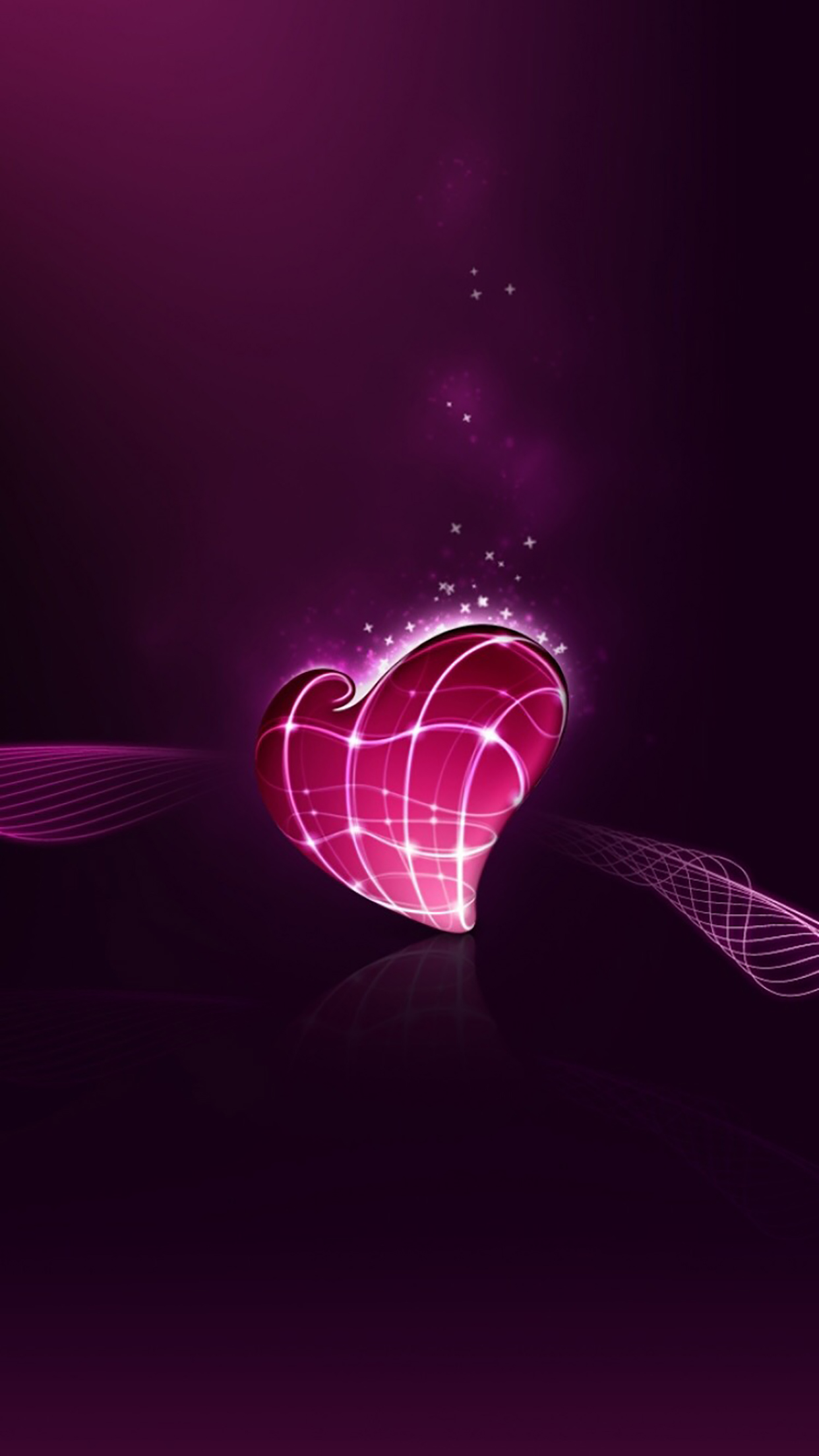 Heart One Heart 3Wallpapers iPhone Parallax Heart : One Heart