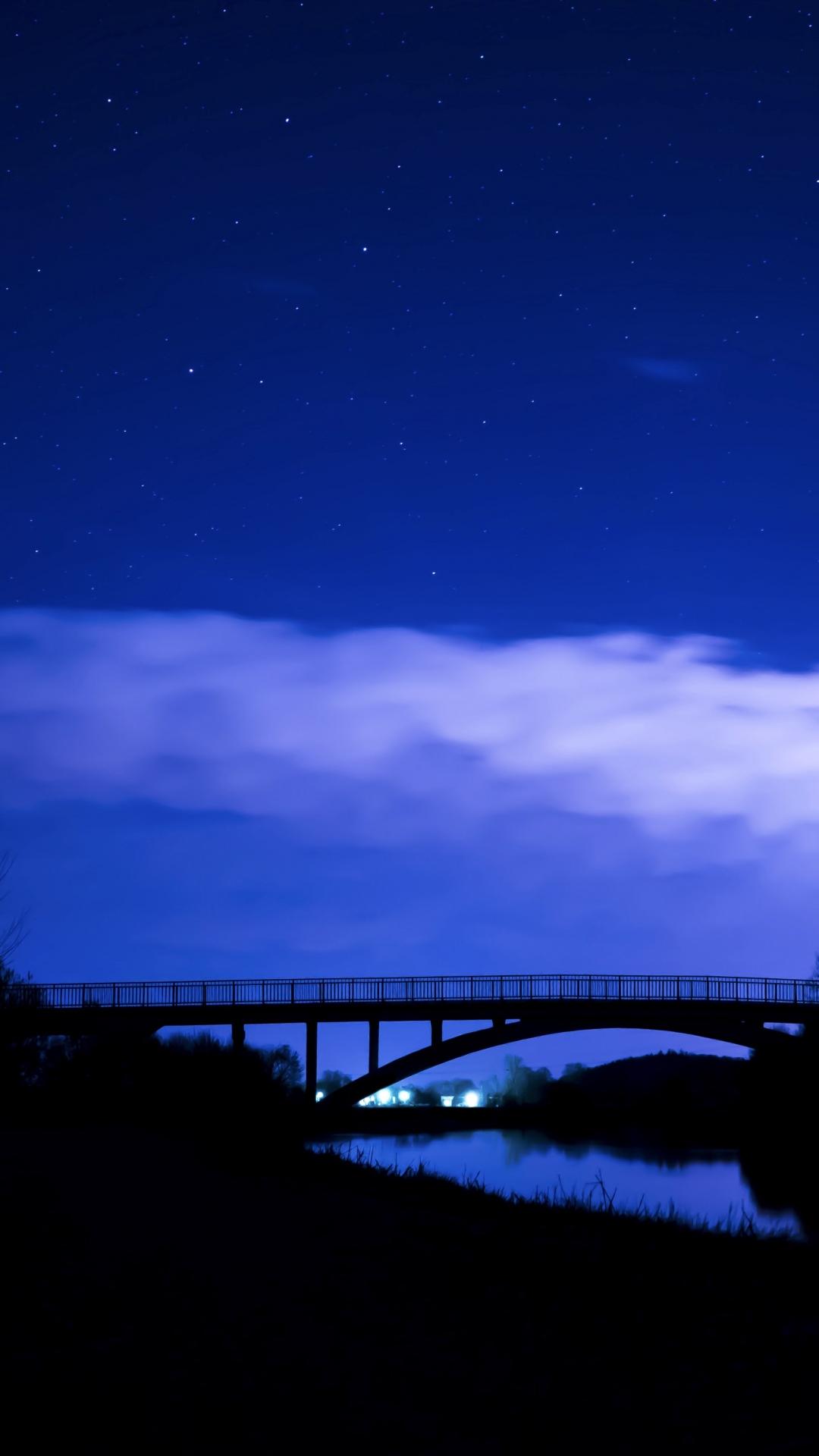 iphone wallpaper bridge night Bridge