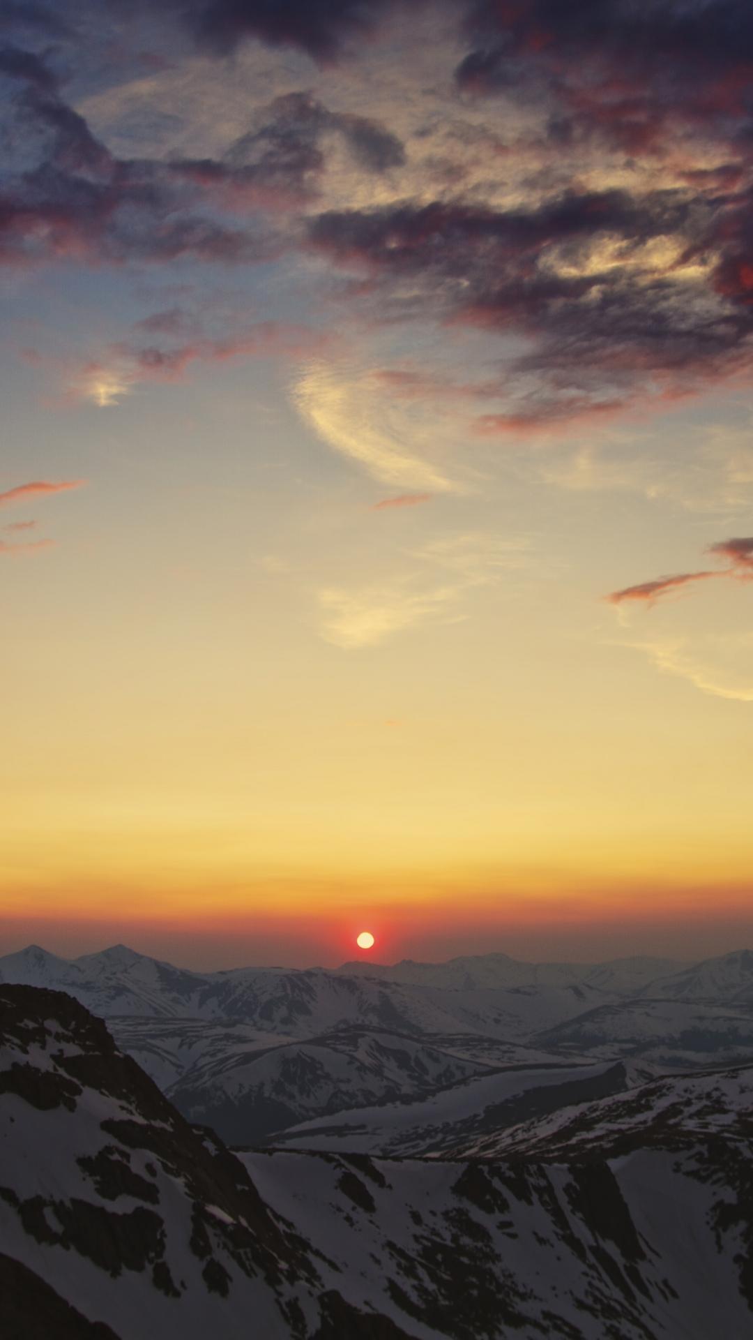 iphone wallpaper mountains cordillera Mountain Sunset