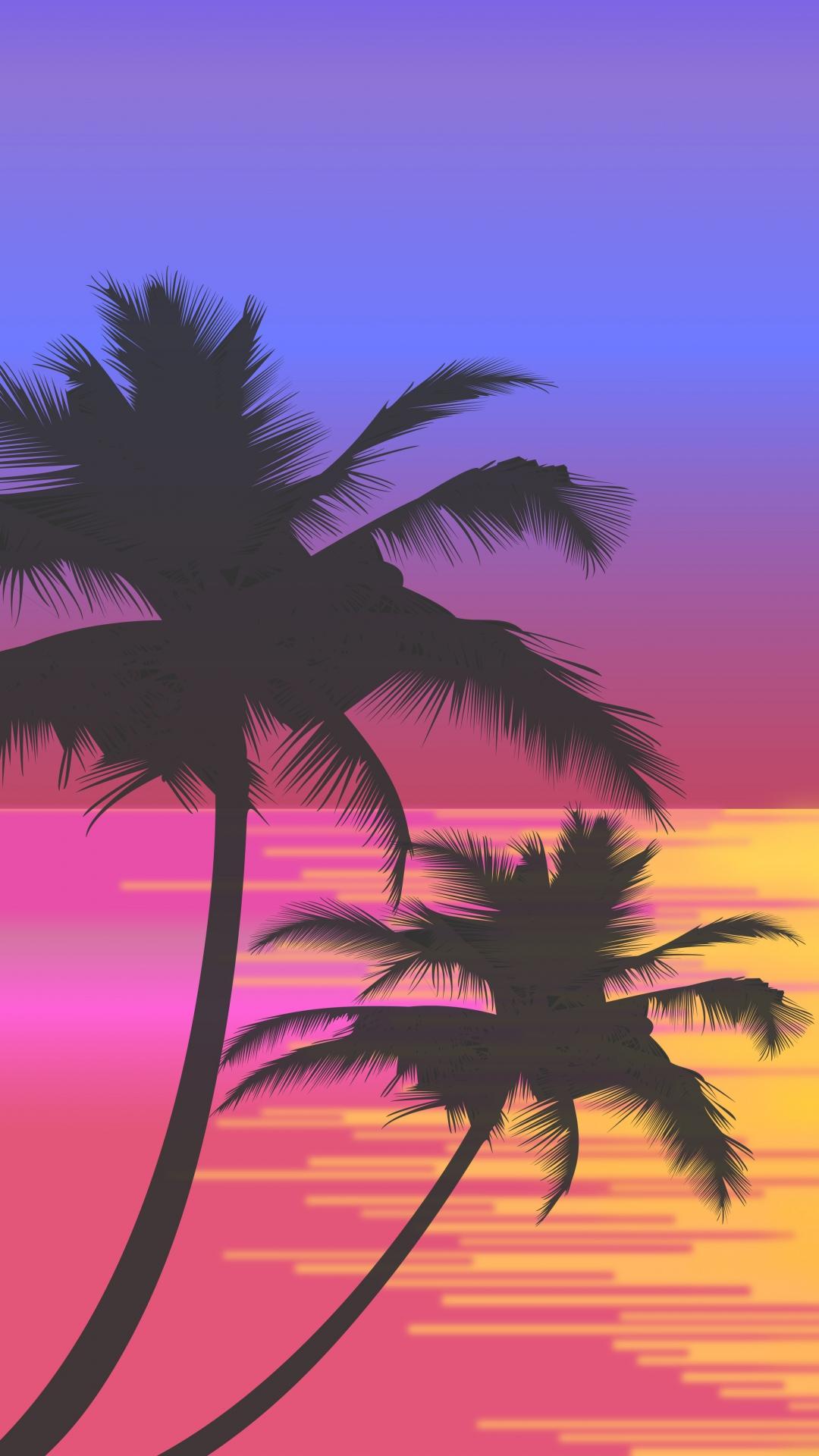 iphone wallpaper palms vector art Palm tree