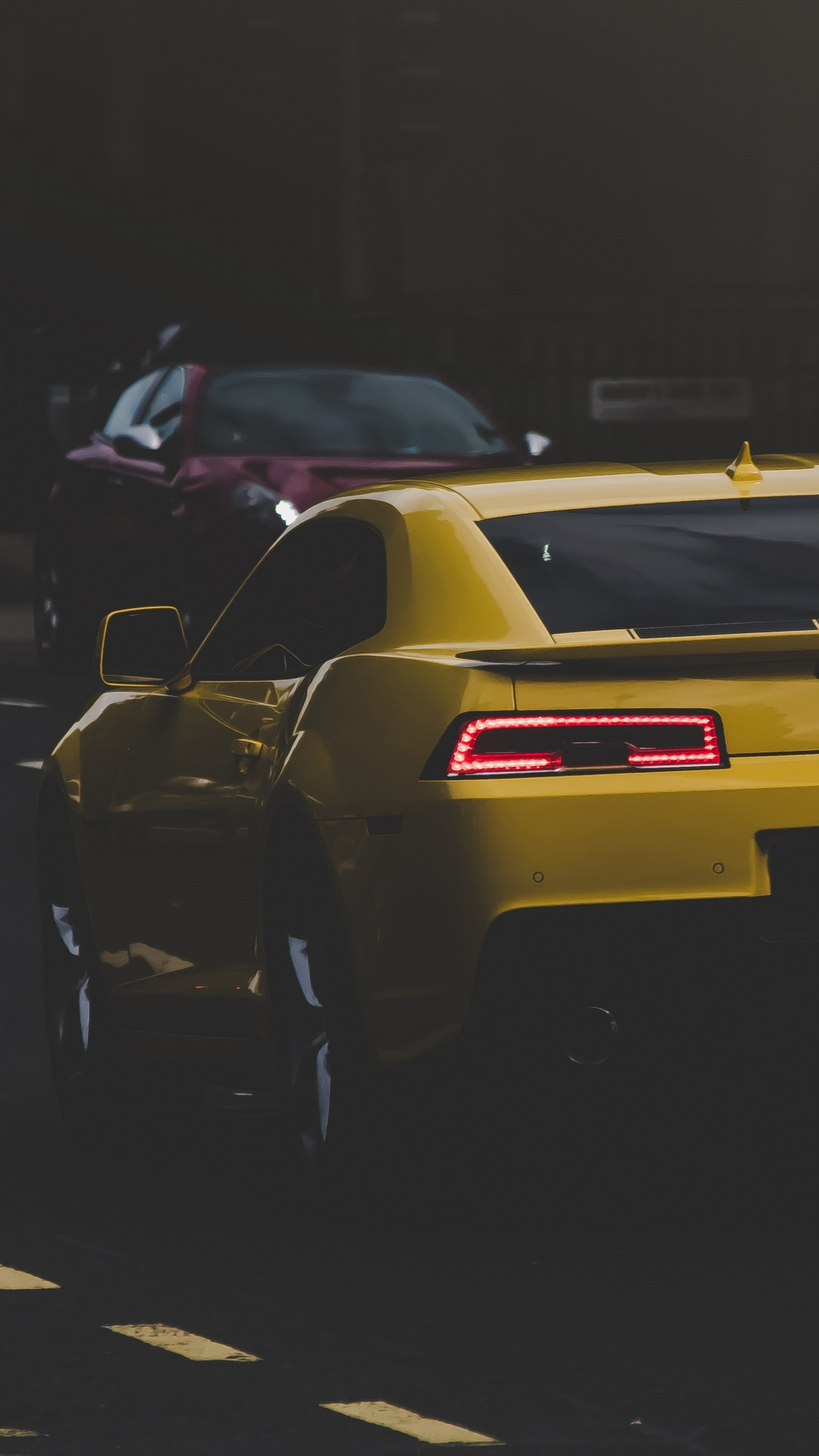 iphone wallpaper auto side view yellow  Car