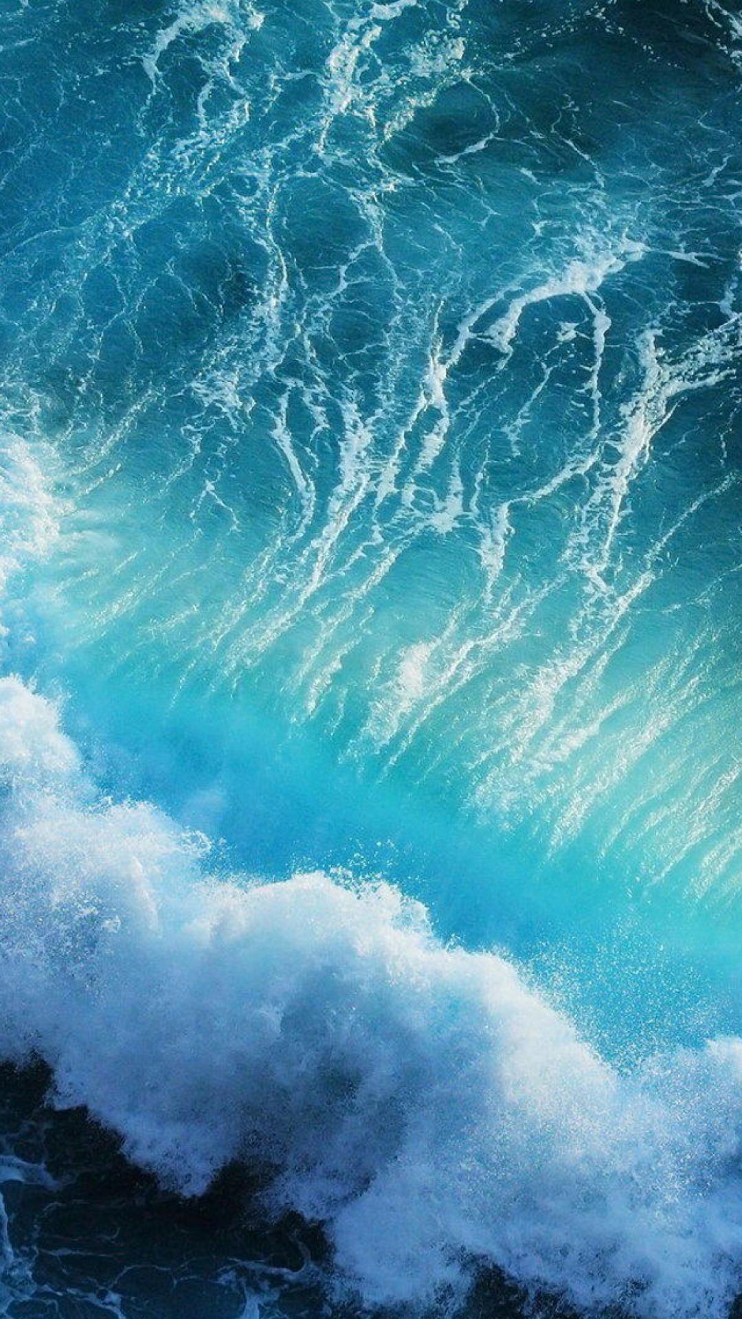 iphone wallpaper Pulse Waves Ocean