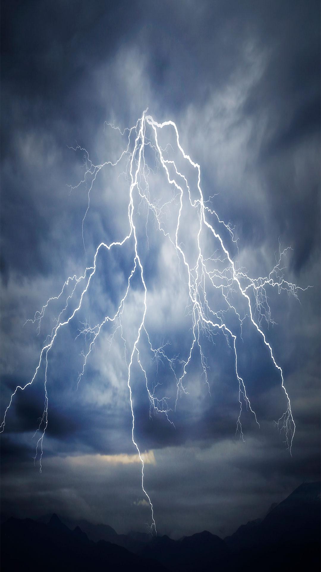 iPhone wallpaper lightning sky Lightning