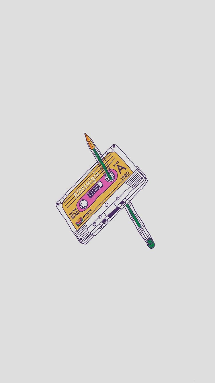 iPhone wallpaper music cassete Music