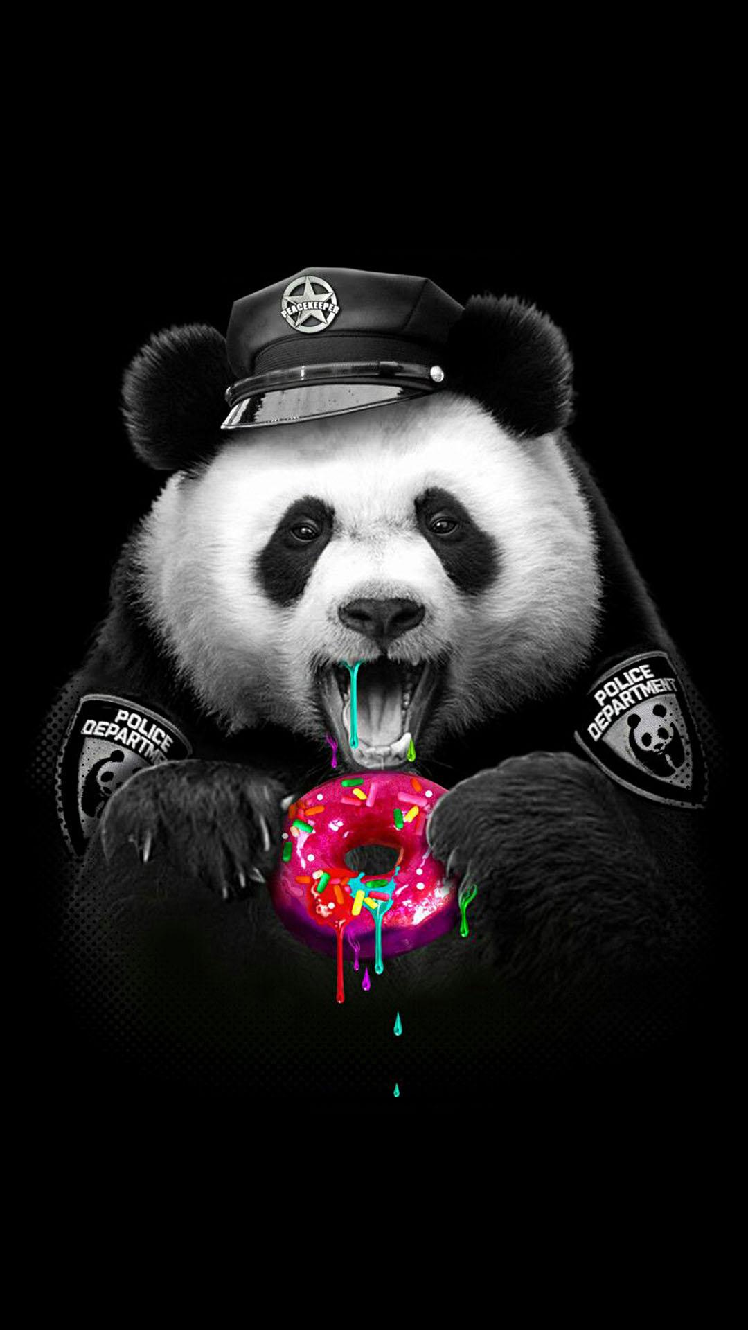 iPhone wallpaper panda police Panda
