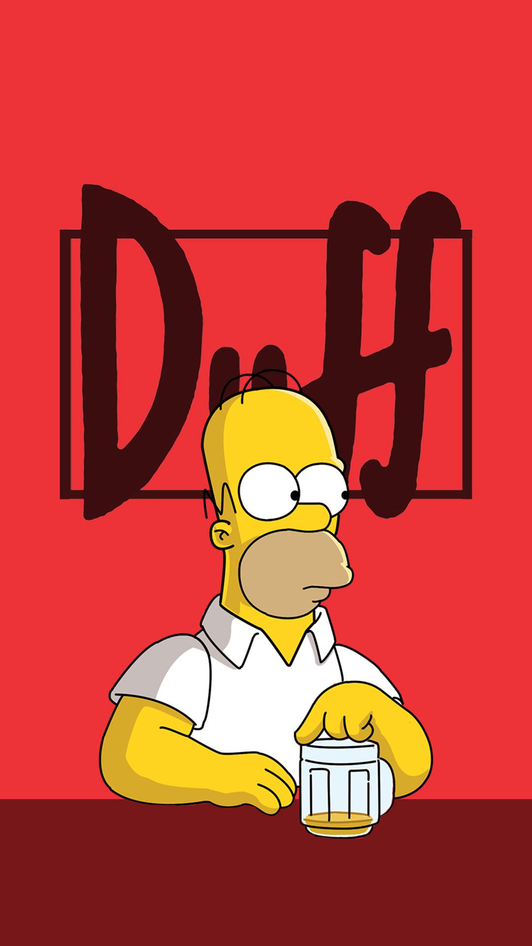 iPhone wallpaper homer duff Homer