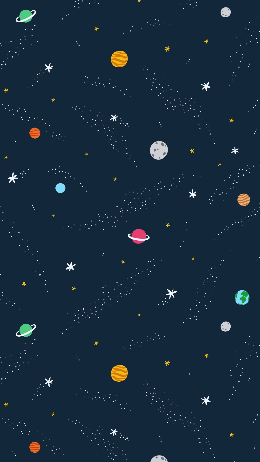 iPhone wallpaper planets2 Illustration