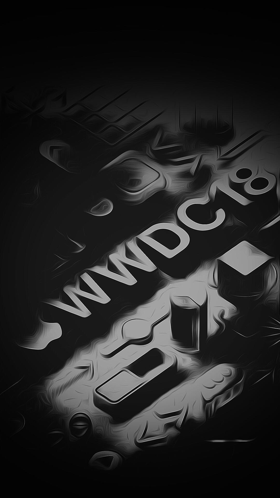 iPhone wallpaper wwdc18 black WWDC18