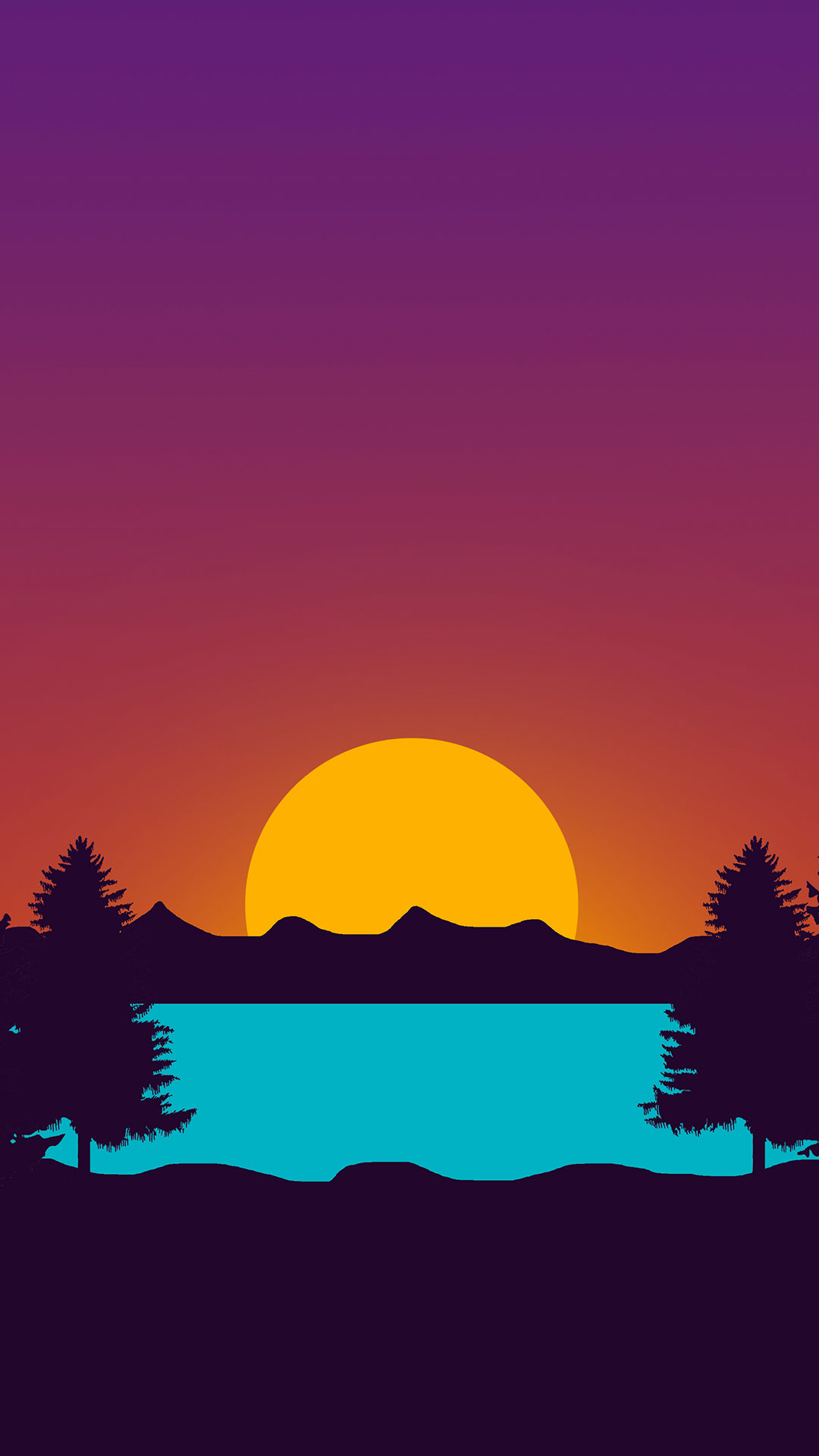 iPhone wallpaper drawing sunset Drawing
