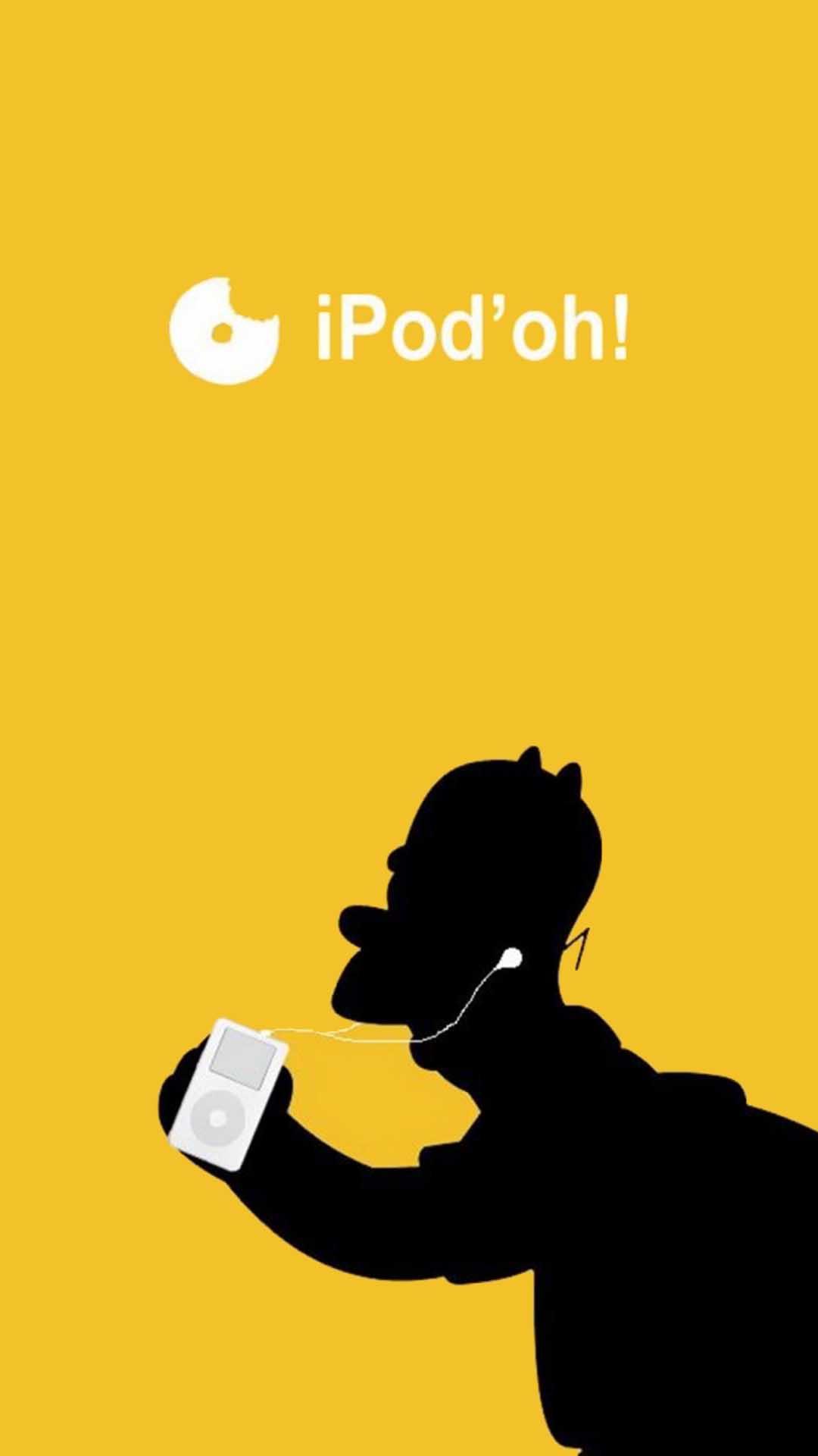 iPhone wallpaper homer simpson ipod Homer Simpson