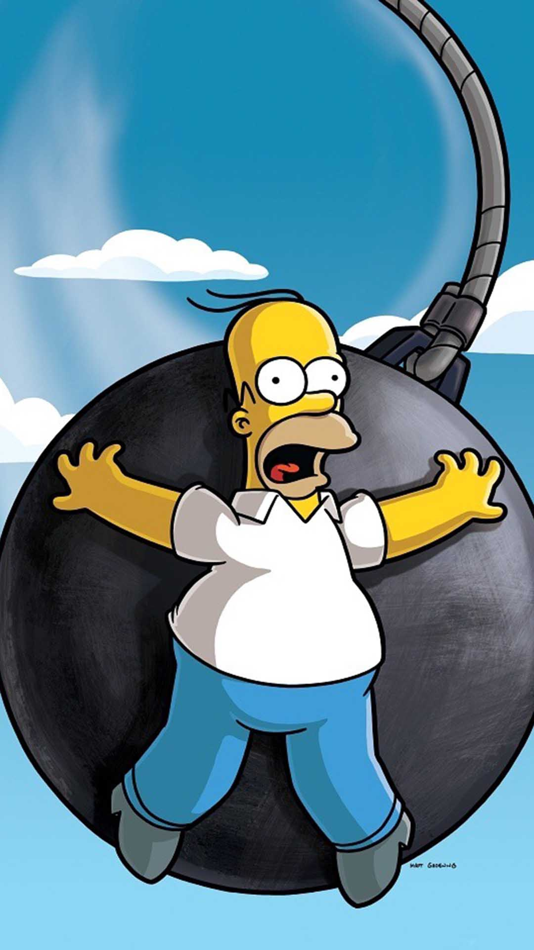 iPhone wallpaper homer simpson movie Homer Simpson