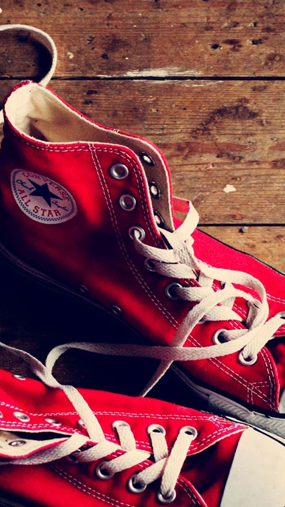 iPhone wallpaper shoes red Converse