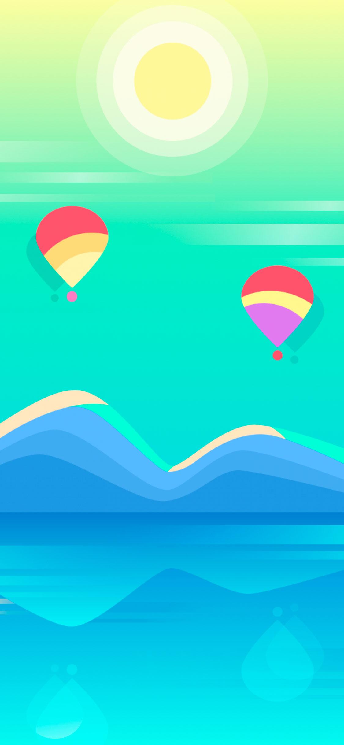 iPhone wallpaper illustration.balloon Illustration