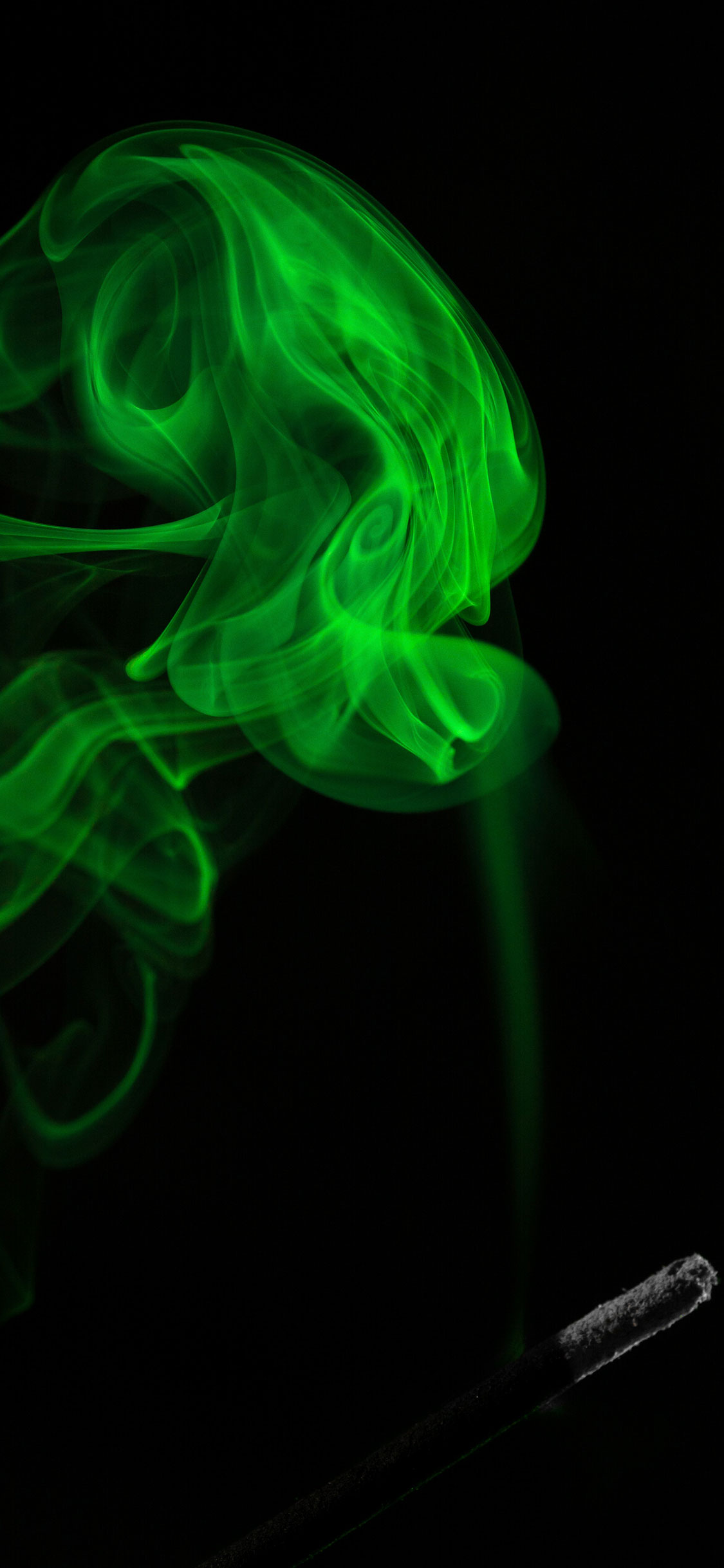 iPhone wallpaper smoke green Smoke
