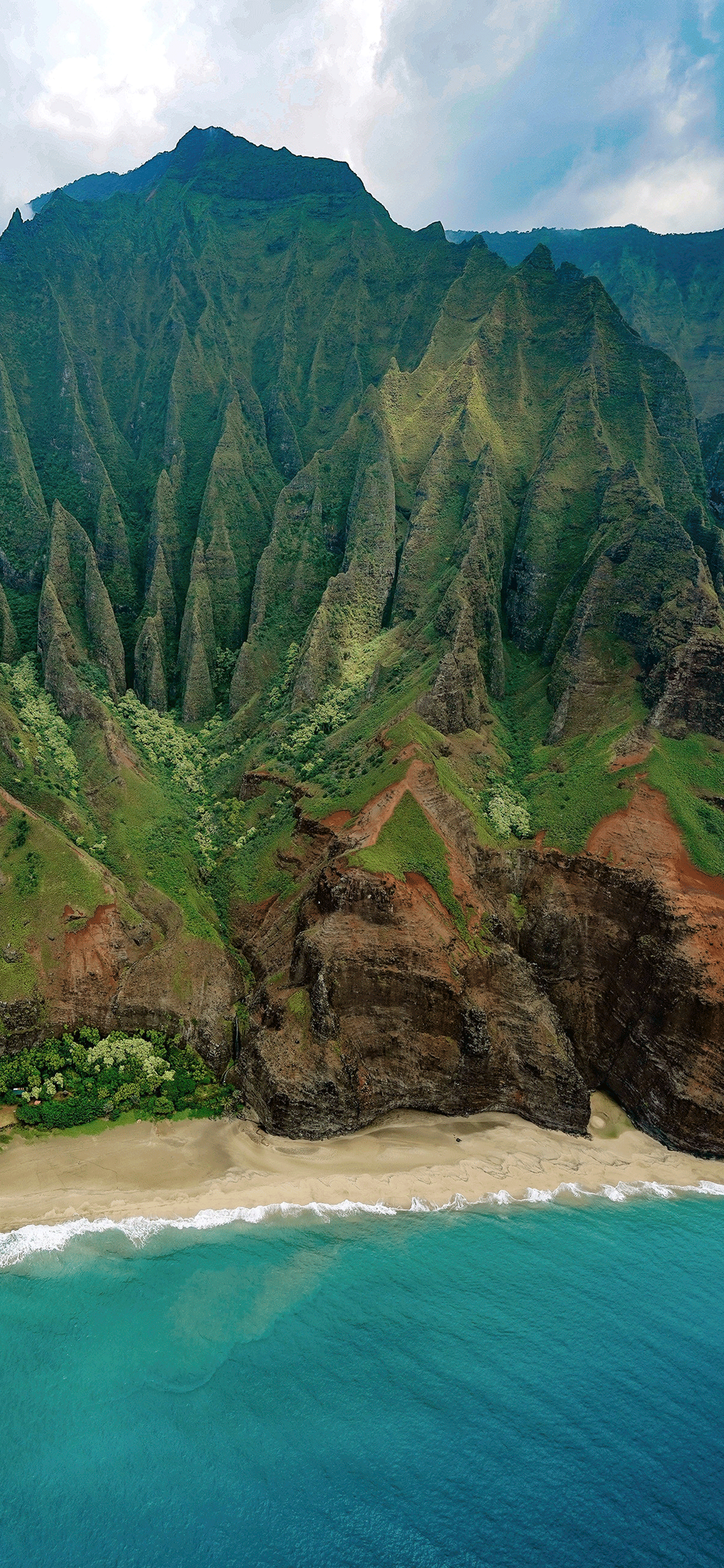 iPhone wallpaper Nā Pali Coast mountains Nā Pali Coast