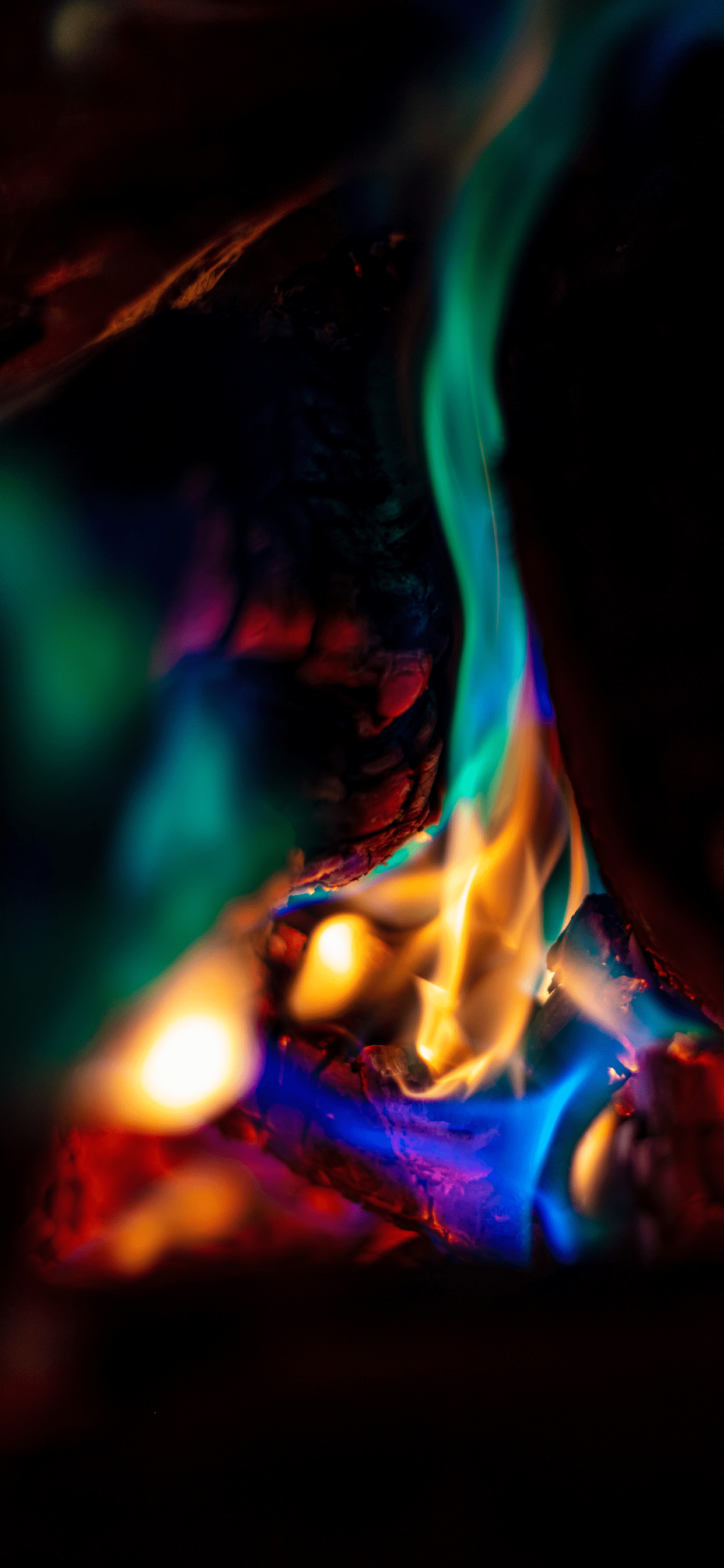 iPhone wallpapers fire colors 2 Fire
