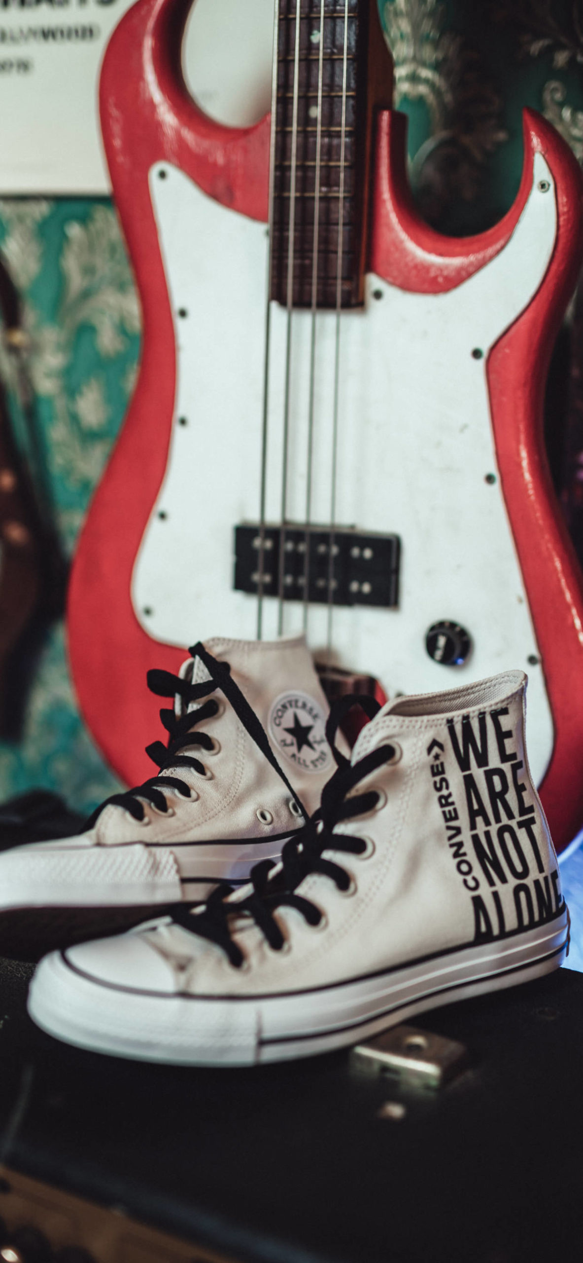 iPhone wallpapers converse allstar white guitar scaled Converse