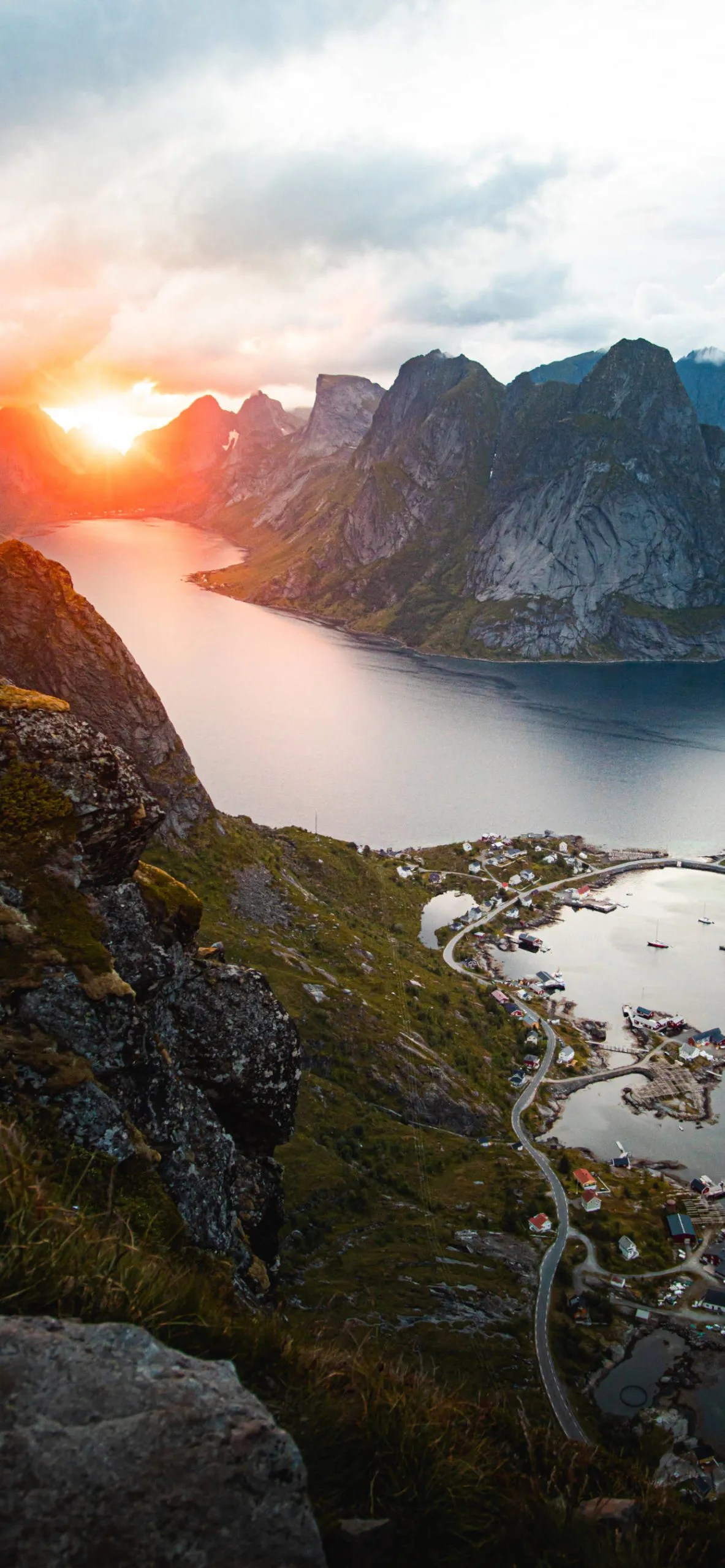 iPhone wallpapers norway sunset scaled Norway