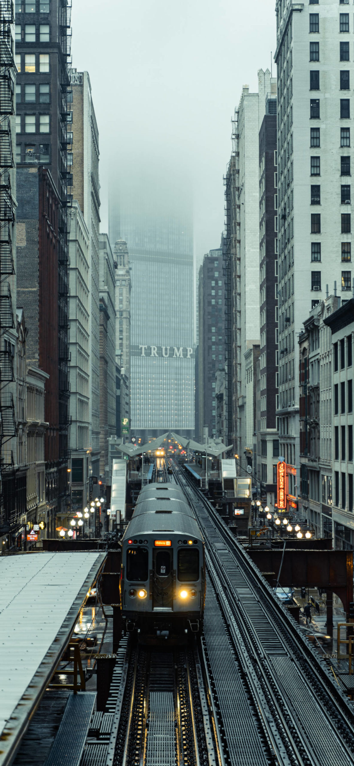 iPhone wallpapers train chicago aerial scaled Train