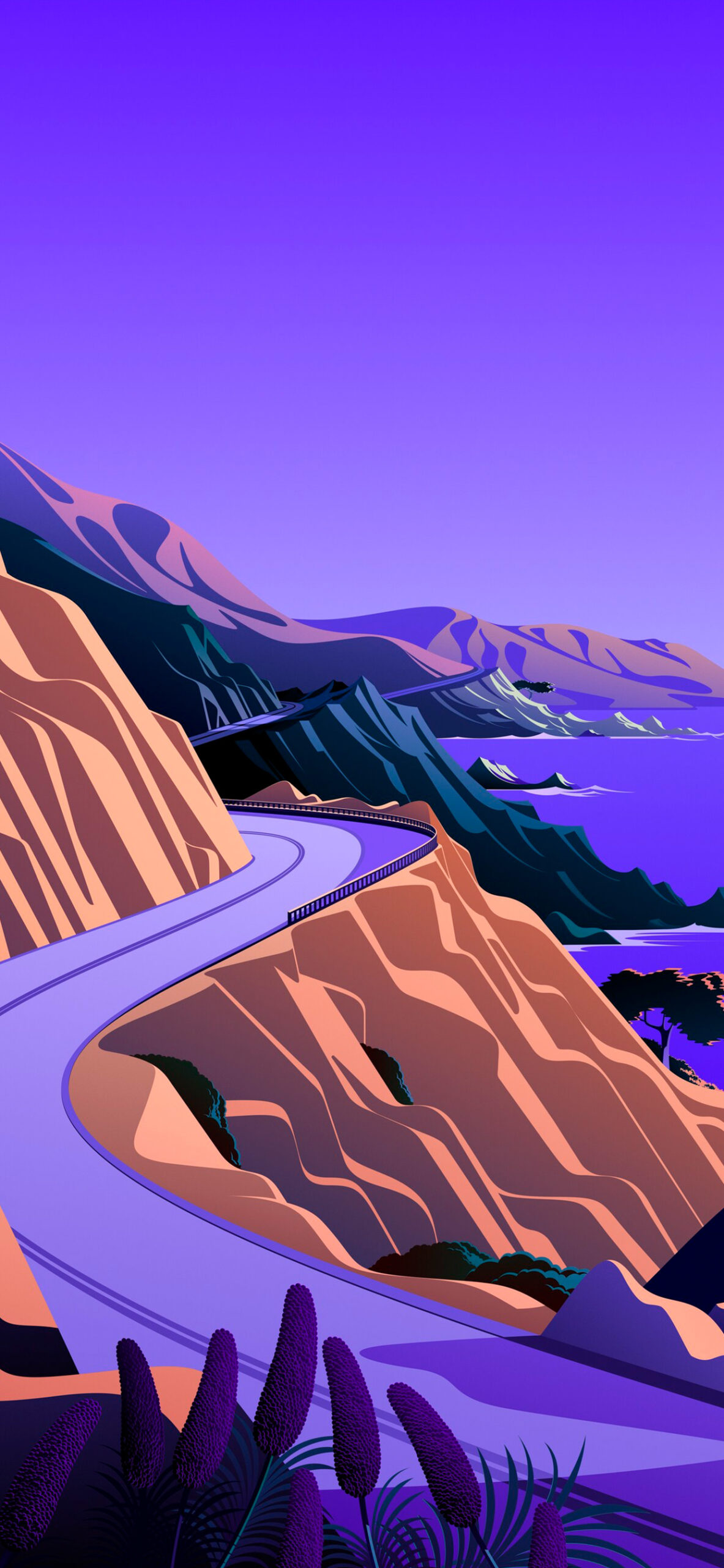 iphone wallpaper big sur cliffs2 scaled Mac OS Big Sur (Cliffs)