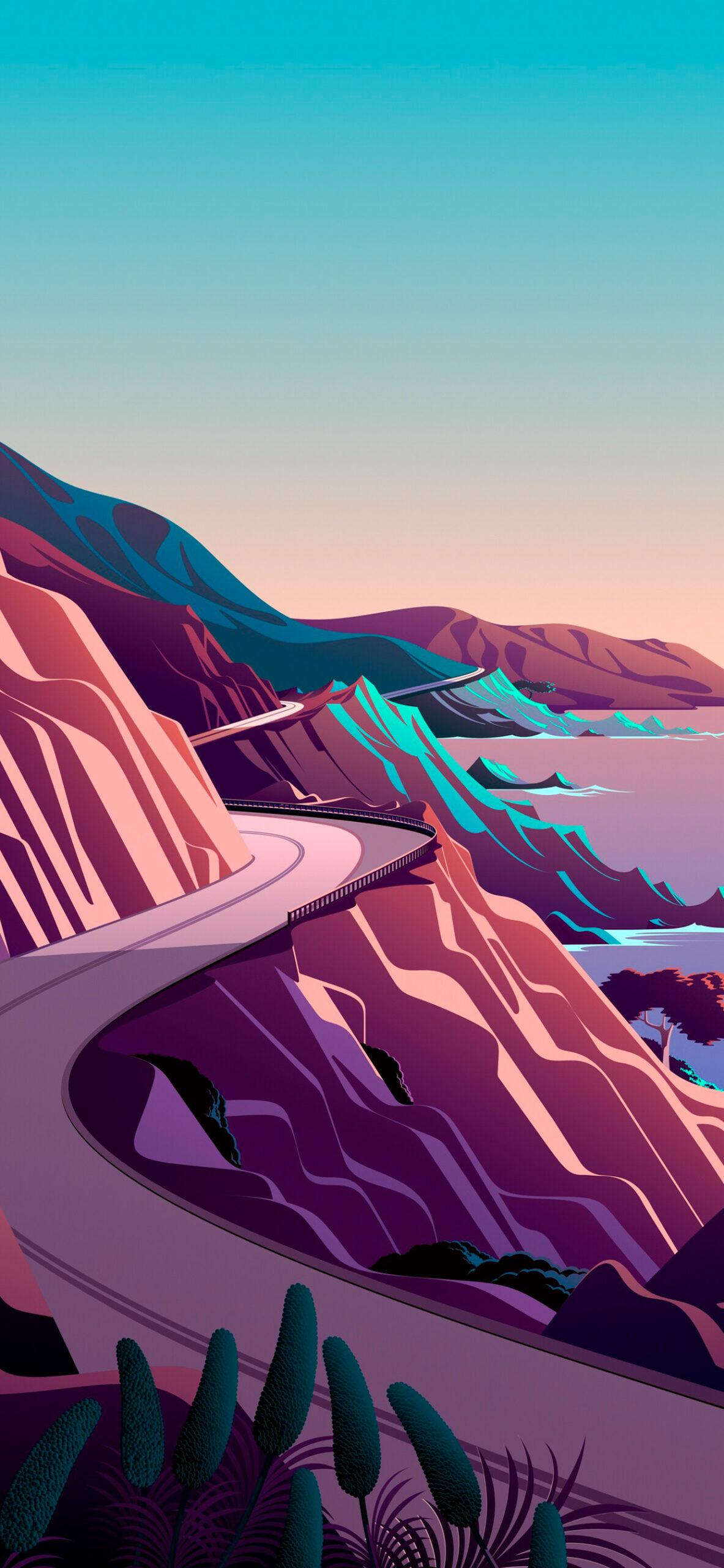 iphone wallpaper big sur cliffs4 scaled Mac OS Big Sur (Cliffs)