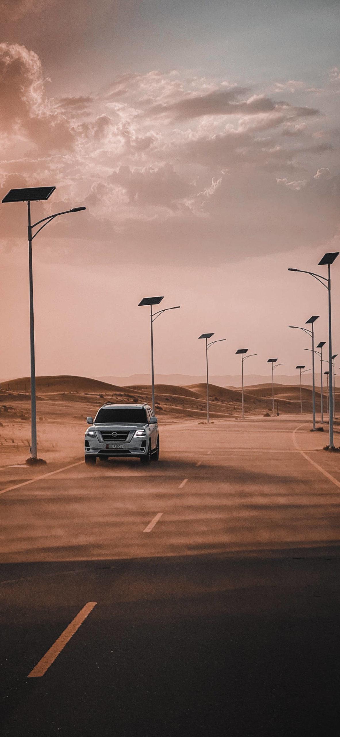 iPhone wallpapers desert car scaled Desert