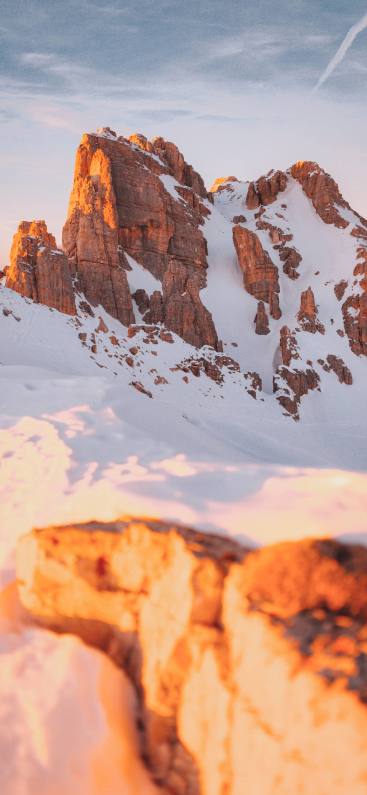 iPhone wallpapers mountain rocks snow scaled Mountain