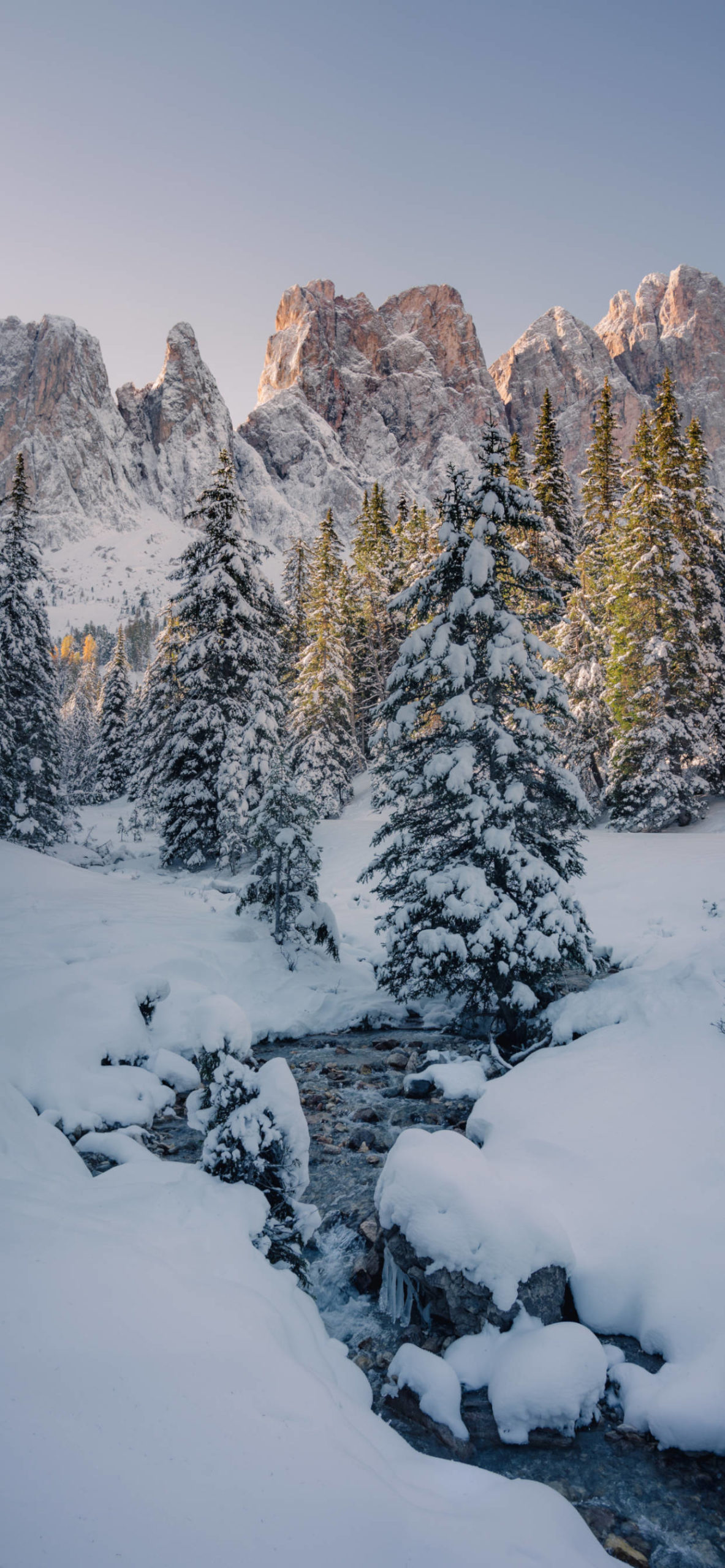 iPhone wallpapers mountains river snow scaled Mountains